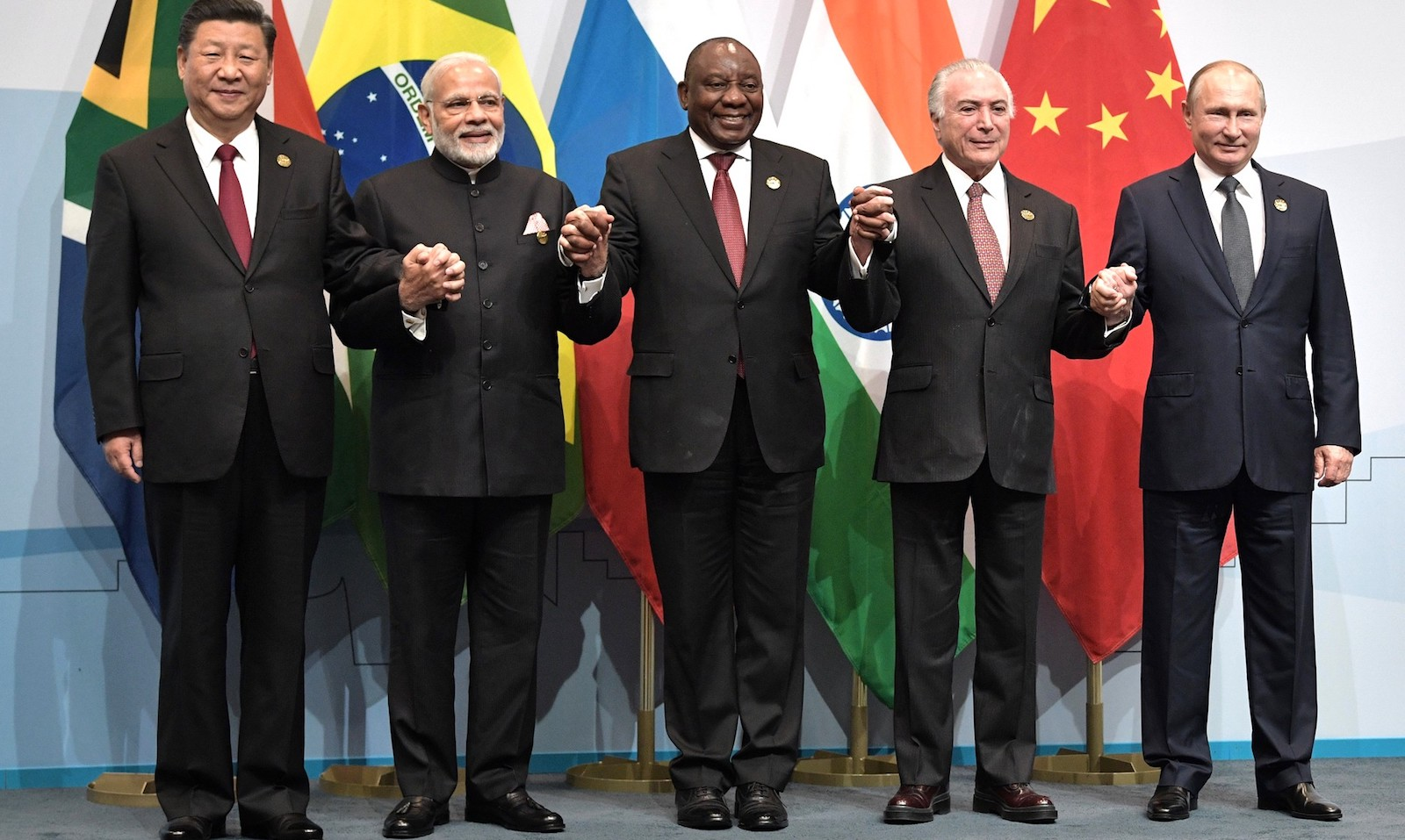 Representatives of the BRICS nations in Johannesburg, South Africa (Photo: Kremlin.ru)