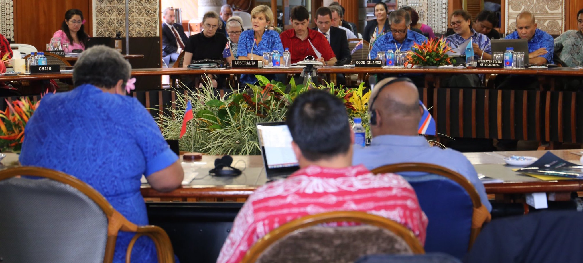 Foreign Minister Julie Bishop in 2015 at a Pacific roundtable (Photo: @JulieBishopMP/Twitter)
