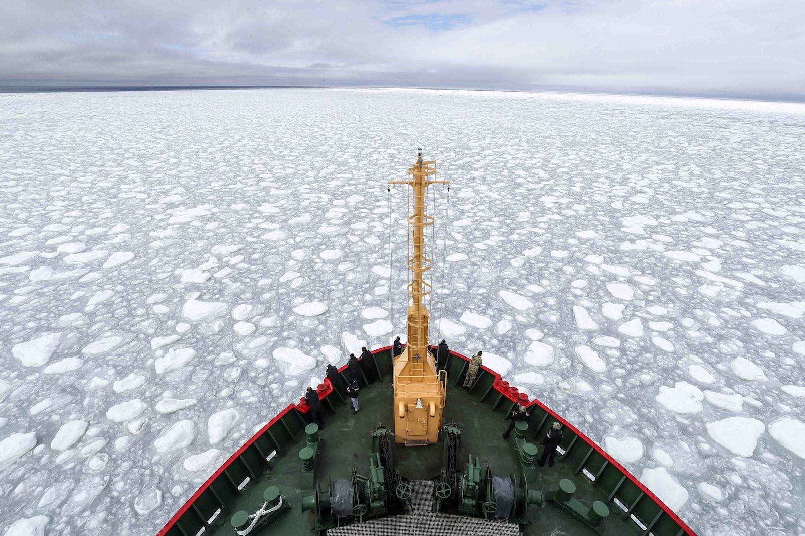 Aboard the British Royal Navy's ice patrol ship HMS Protector (Photo: HMSProtector/Twitter)