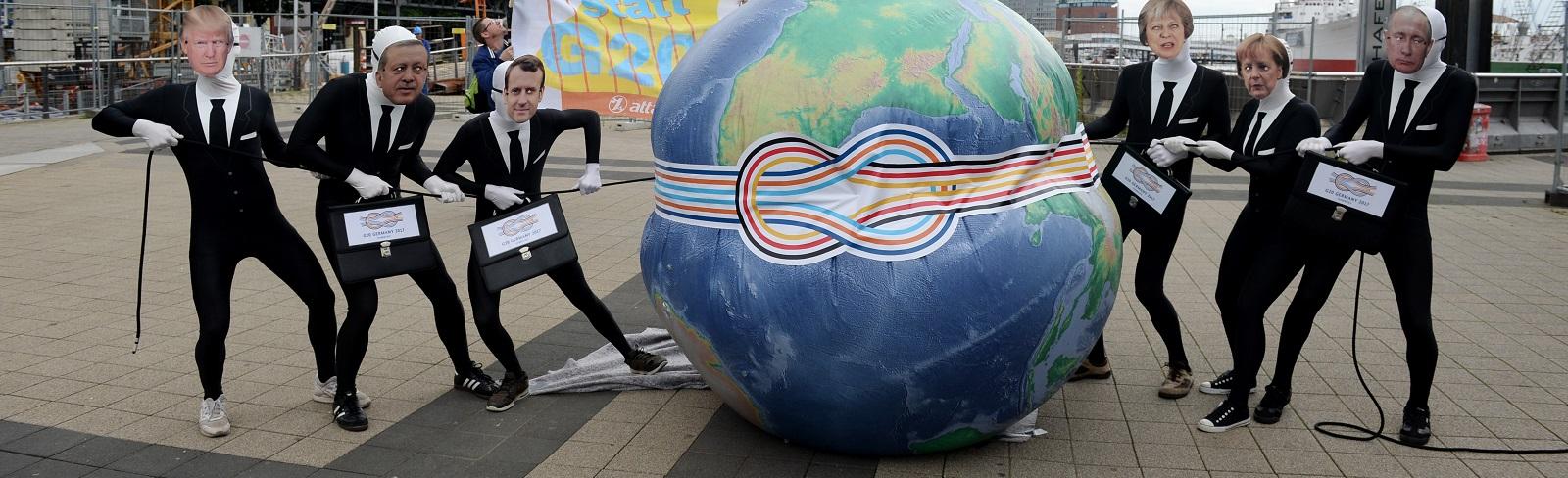 Protestors in Hamburg ahead of the G20 Summit (Photo: Morris MacMatzen/Getty Images)