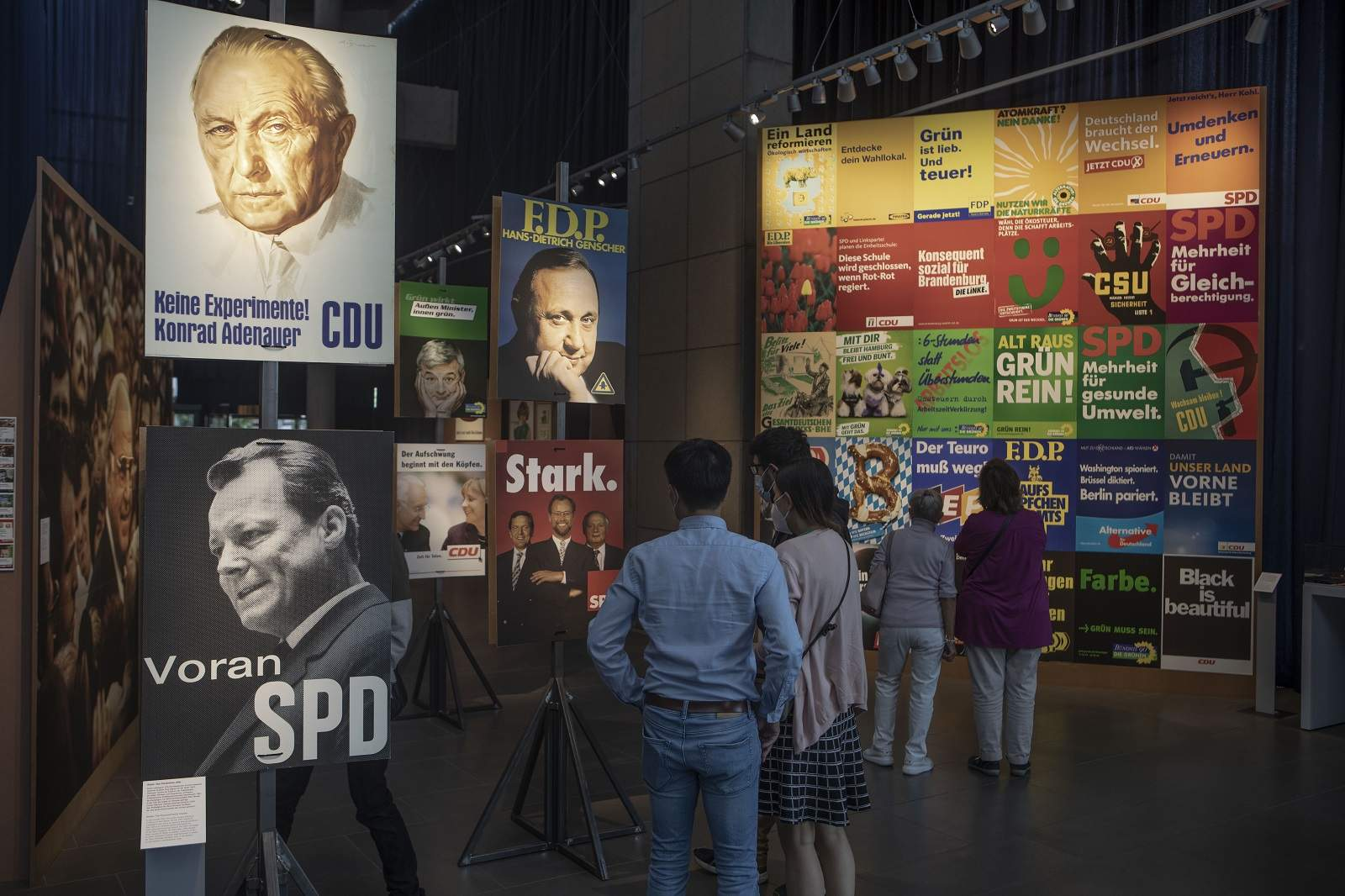 """Historic election posters at the """"Choose me!"""" exhibition in Bonn, July 2021 (Ulrich Baumgarten via Getty Image)"""