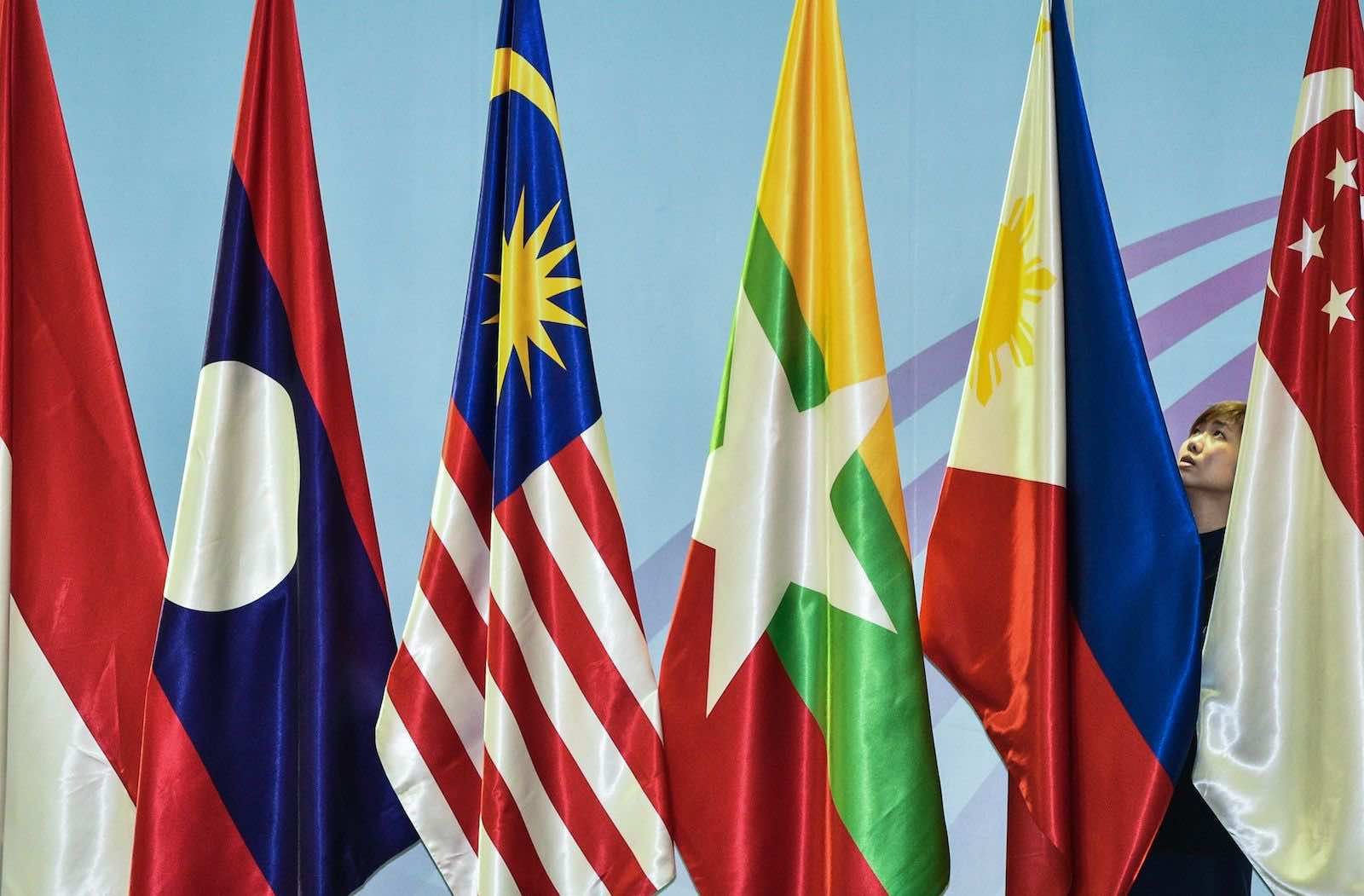 """ASEAN member countries do not see US-China rivalry as a debate between """"democratic"""" states versus """"authoritarian"""" states (Mohd Rasfan/AFP via Getty Images)"""