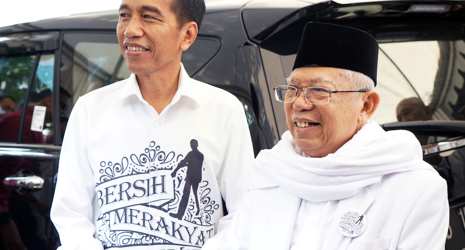 Joko Widodo and Ma'ruf Amin (Photo: Dimes Ardian via Getty)