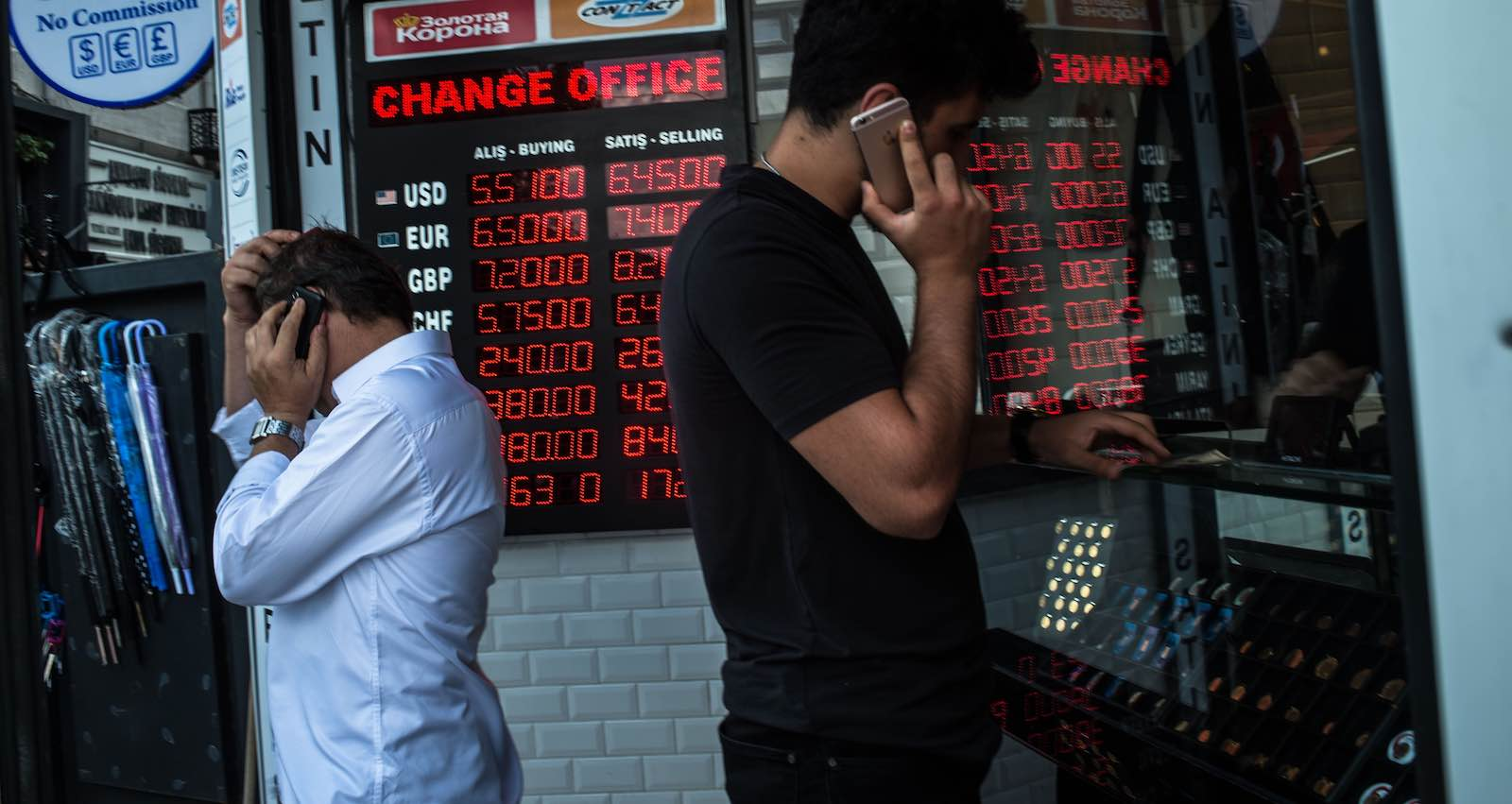 A currency exchange office in Istanbul (Photo: Yasin Akgul/Getty)