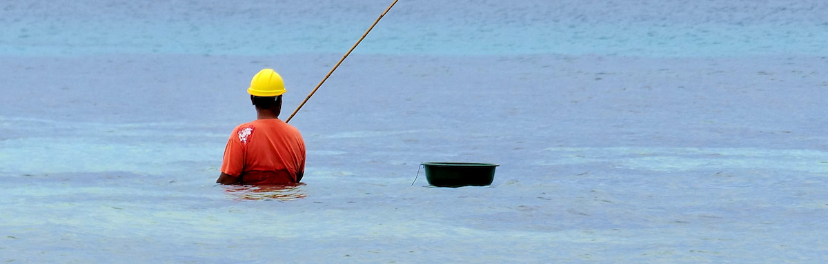 A fisherman in Tuvalu (Photo: Fiona Goodall/ Getty)