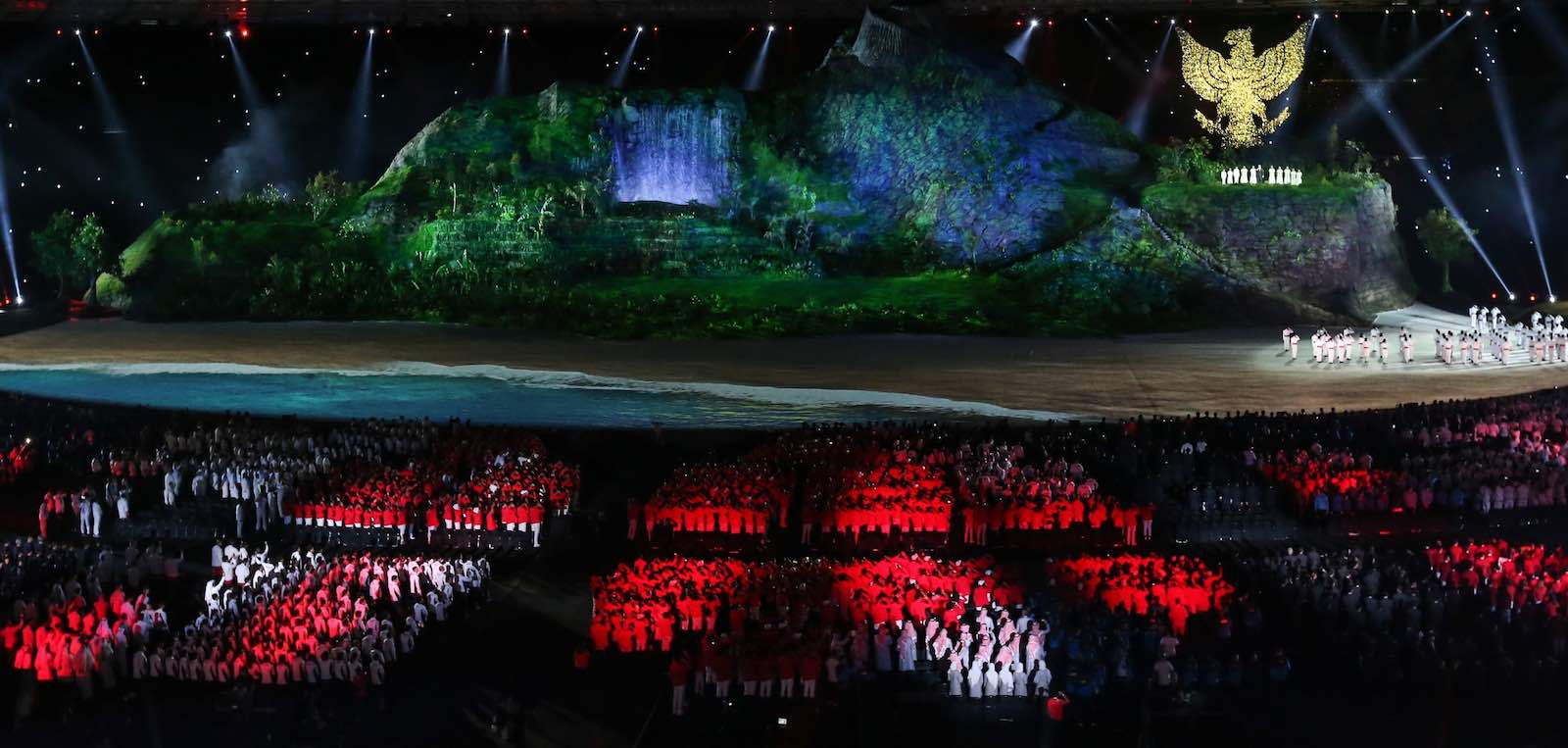 The opening ceremony of 2018 Asian Games, Jakarta, Indonesia, 18 August (Photo: Anton Raharjo via Getty)