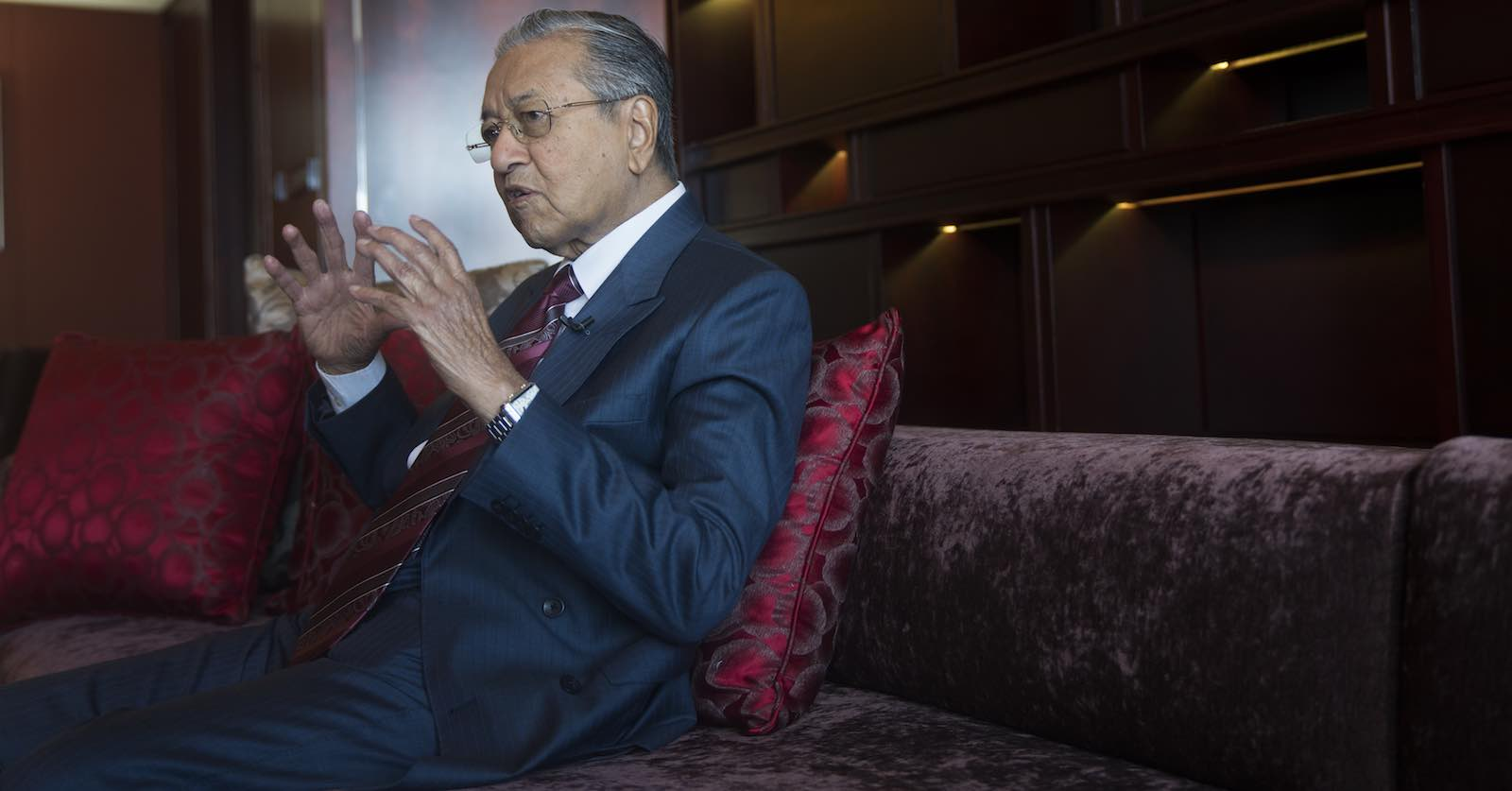 Malaysian Prime Minister Mahathir Mohamad during a visit last month to Beijing, China (VCG via Getty Images)