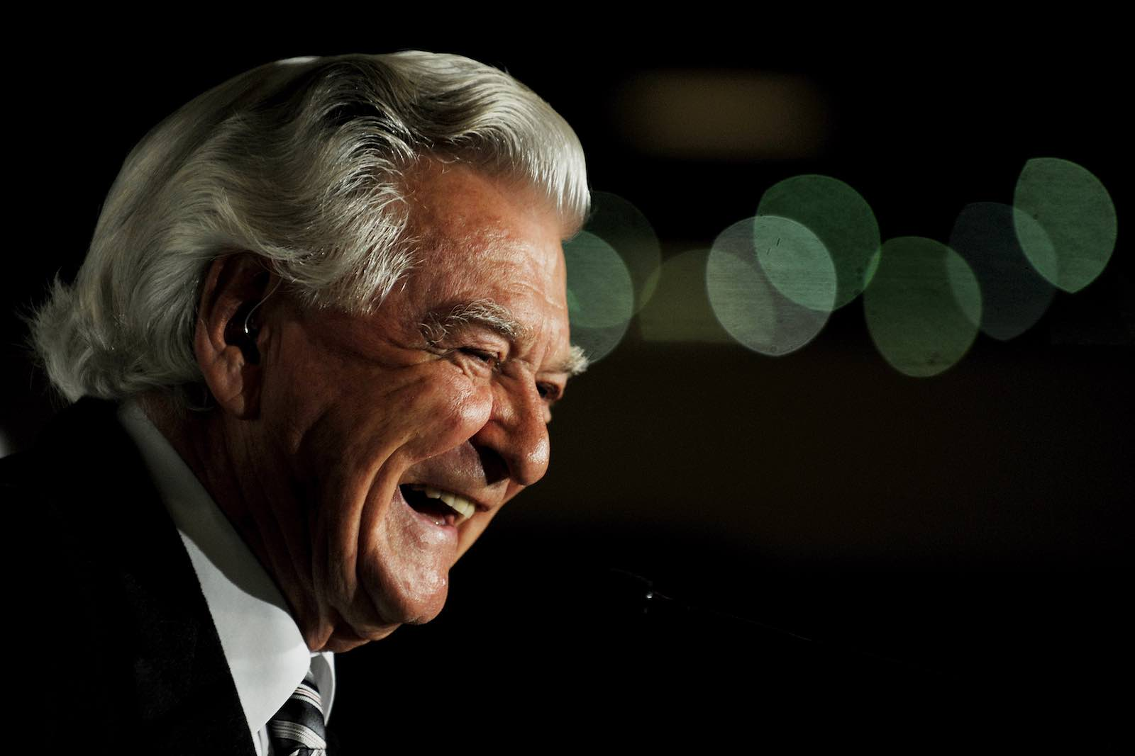 Bob Hawke never doubted his own capacity to persuade (Photo: Greg Wood via Getty)