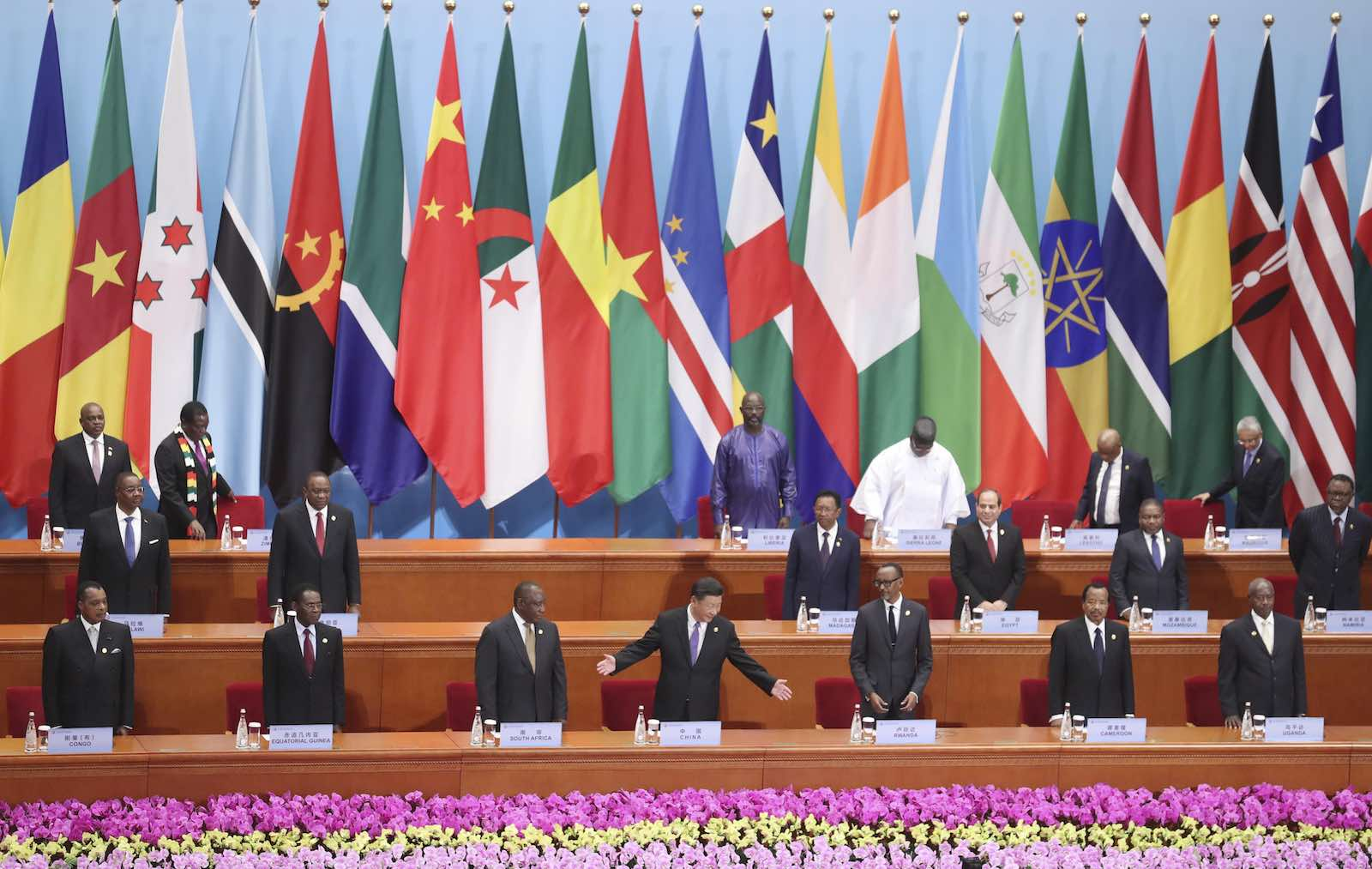 China's President Xi Jinping hosts the Forum on China-Africa Cooperation on 3 September in Beijing, China (Photo: Sheng Jiapeng via Getty)