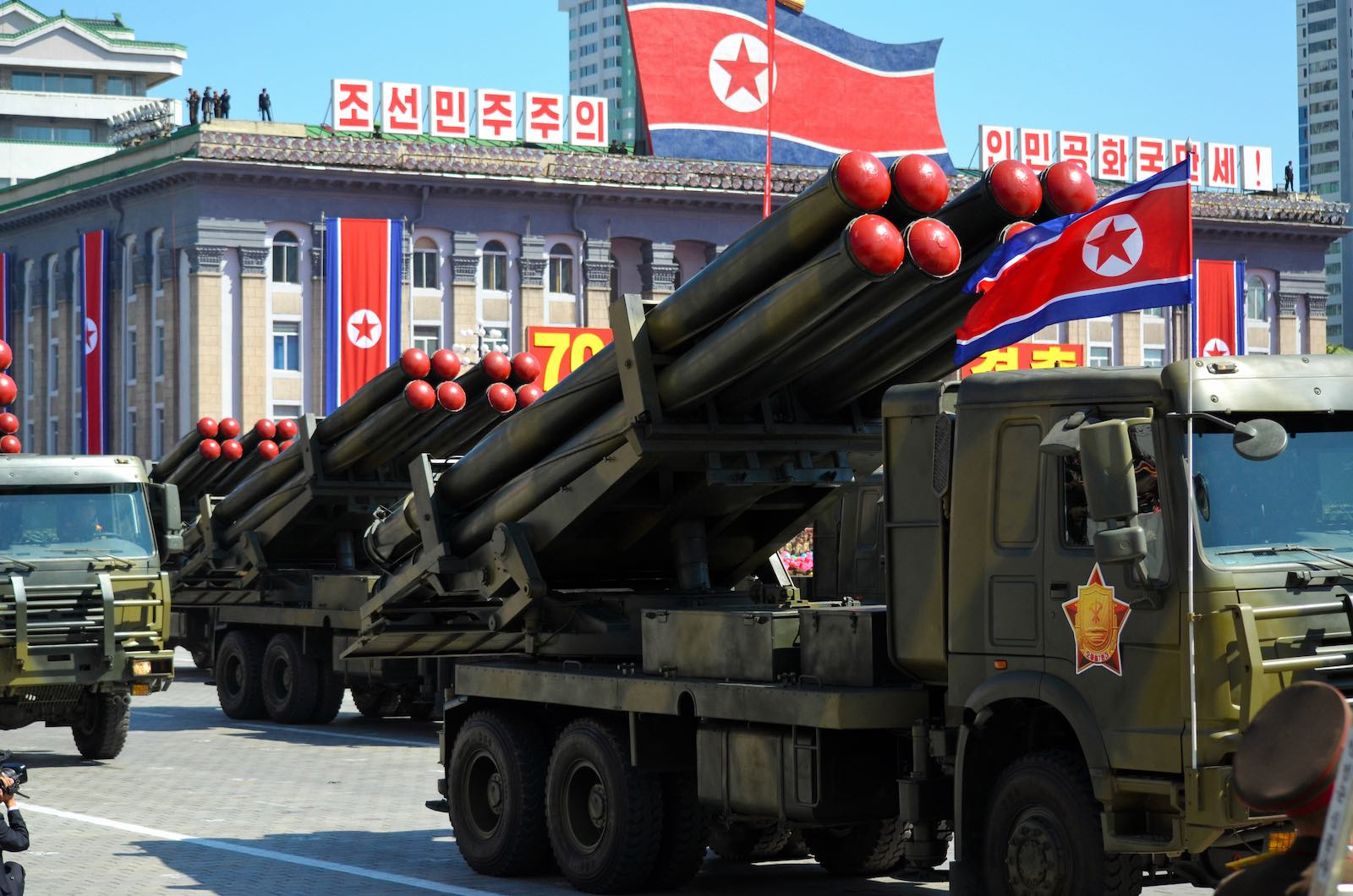 A military parade in North Korea in September 2018 (Photo: The Asahi Shimbun via Getty)