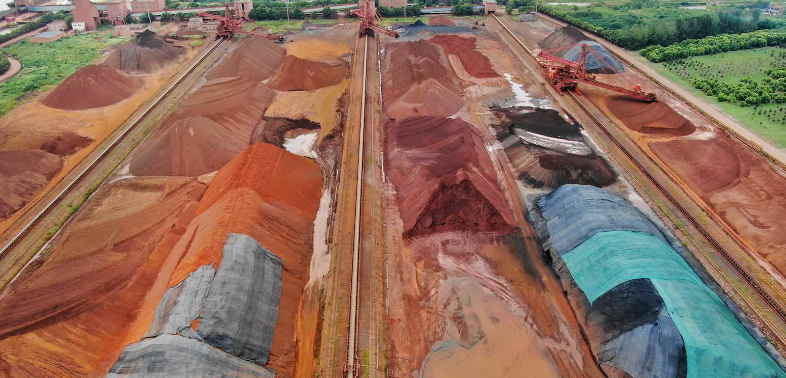 Imported iron sand at Nantong port, China (Photo: Xu Congjun via Getty)
