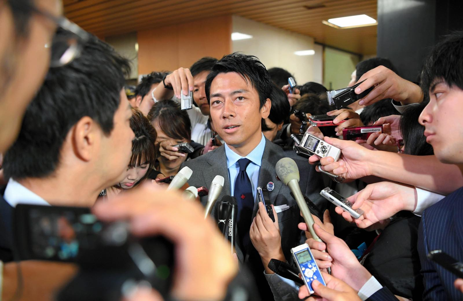 Politics is in the family - Shinjiro Koizumi (Photo: The Asahi Shimbun via Getty Images)