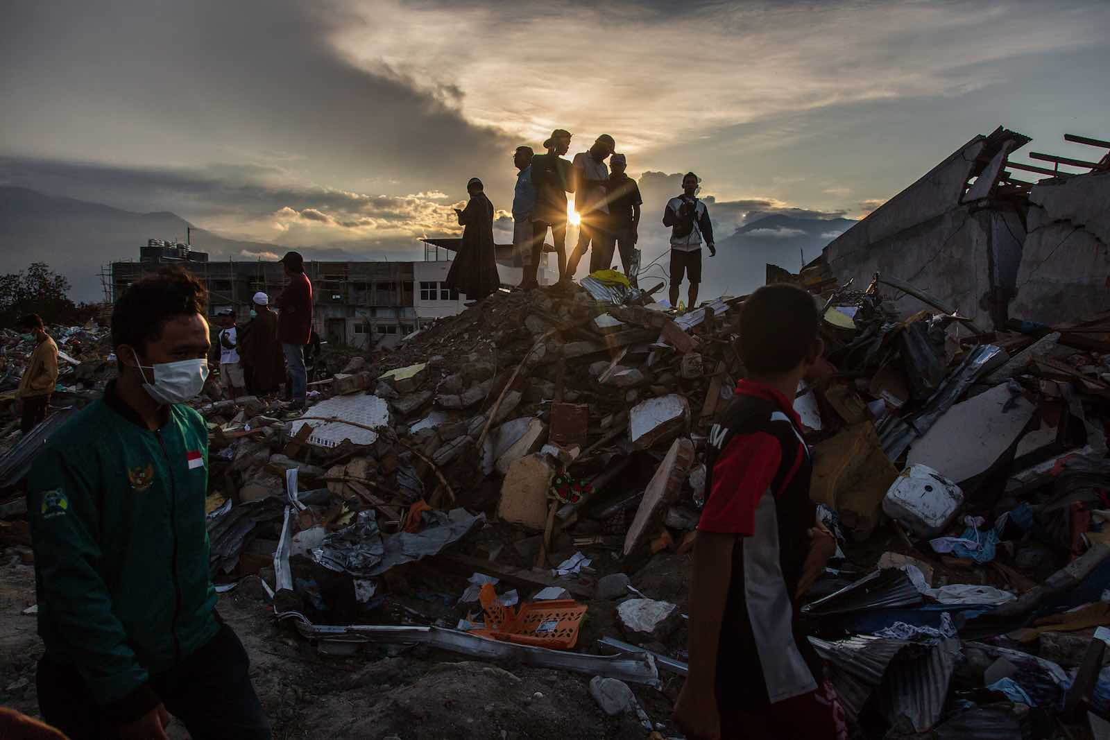 Aftermath of an earthquake and tsunami that struck the island of Sulawesi in September 2018, in Palu, Indonesia (Ulet Ifansasti/Getty Images)