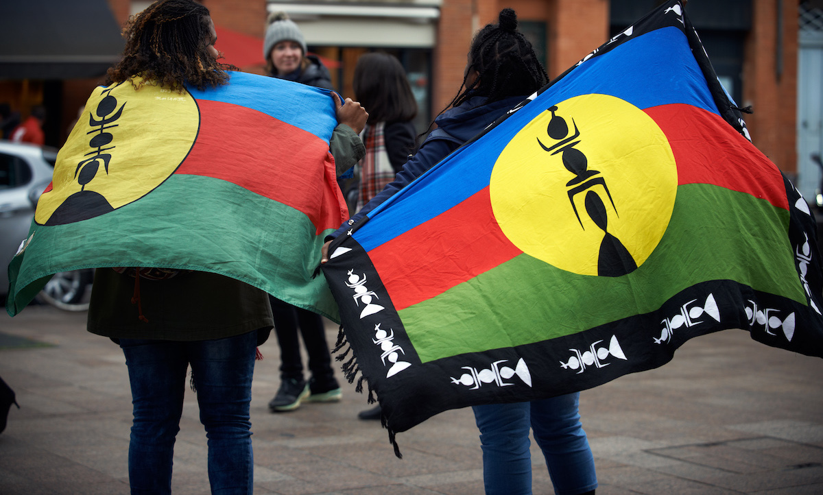 New Caledonians gathered for independence before the referendum on 4 November (Photo: NurPhoto via Getty)