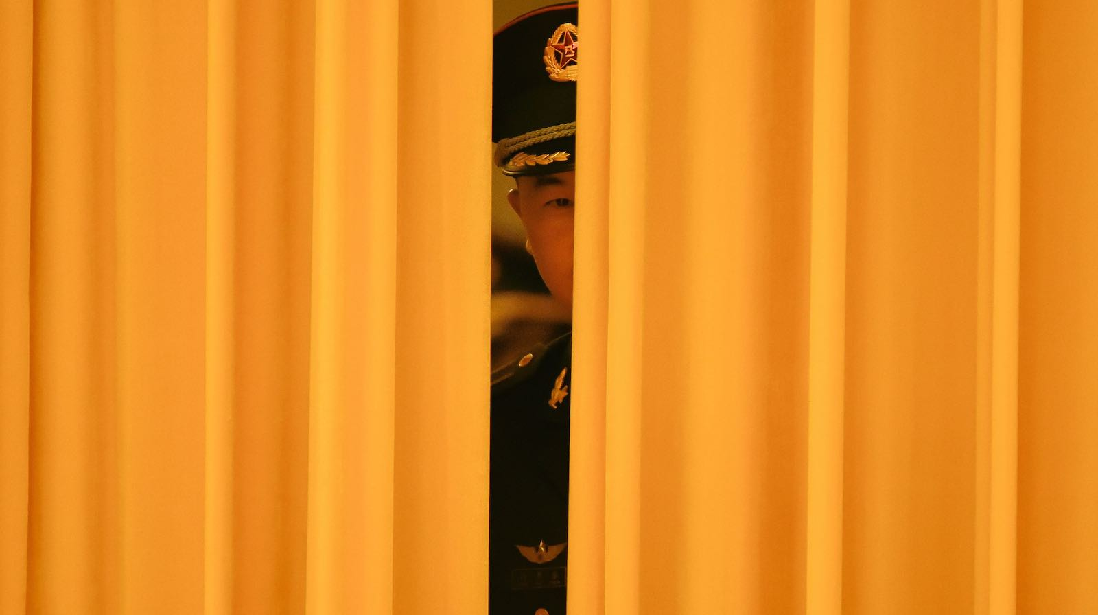 Chinese honour guards prepare for the arrival of China's President Xi Jinping and El Salvador's President Salvador Sanchez Ceren at the Great Hall of the People in Beijing in November 2018 (Photo: Wang Zhao via Getty)