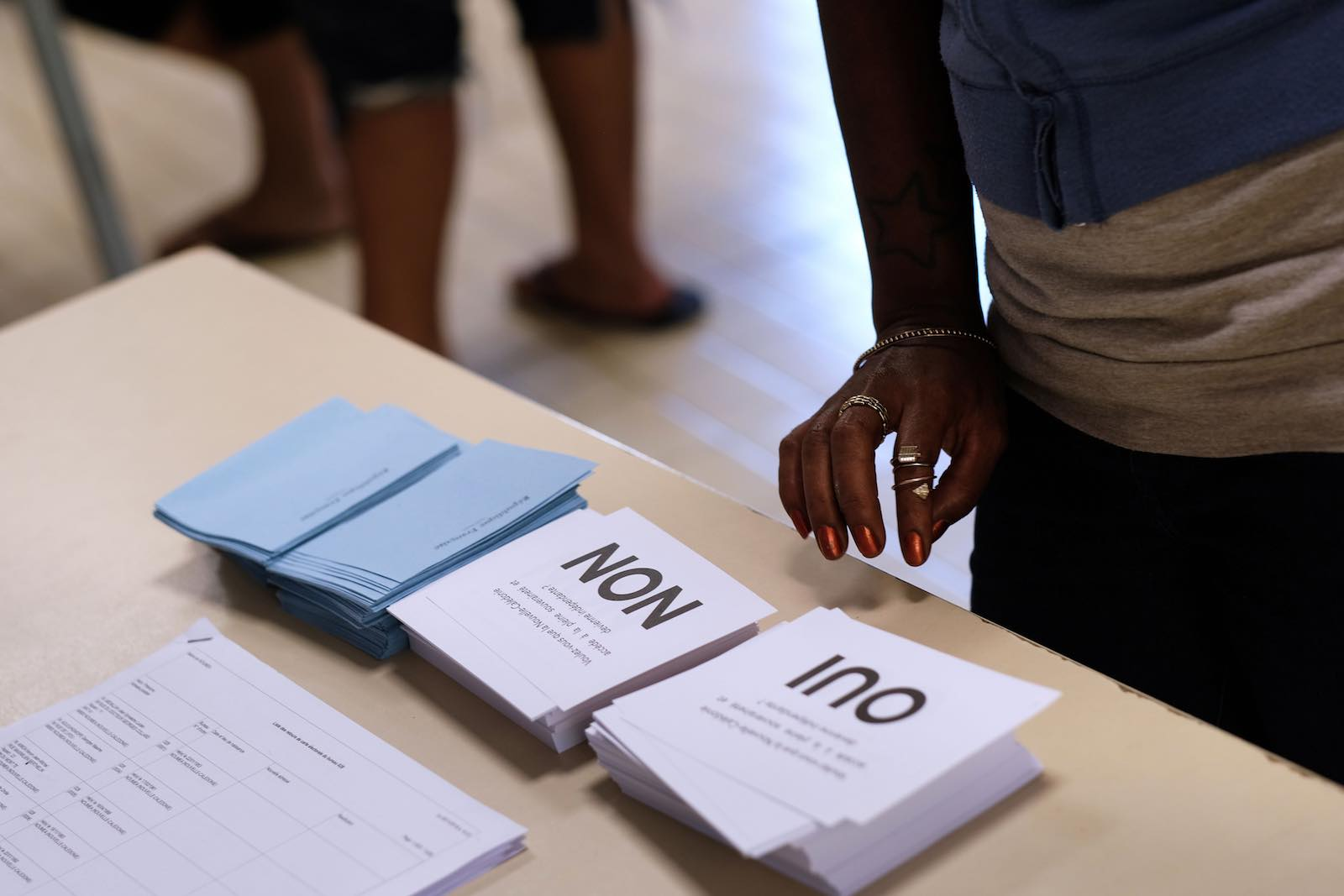Ballot papers in the 2018 referendum on New Caledonia's independence from France – with another vote now anticipated for 2020 (Photo: Theo Rouby/AFP/Getty Images)