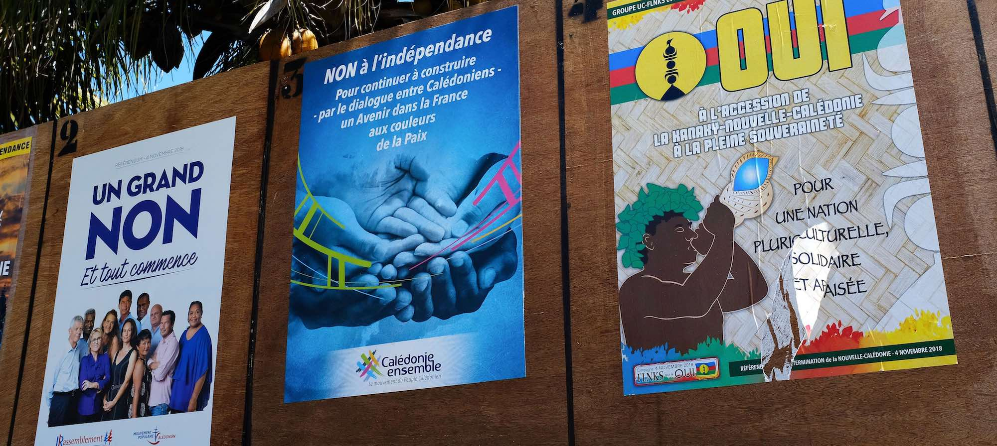 Campaign posters in Noumea (Photo: Theo Rouby via Getty)