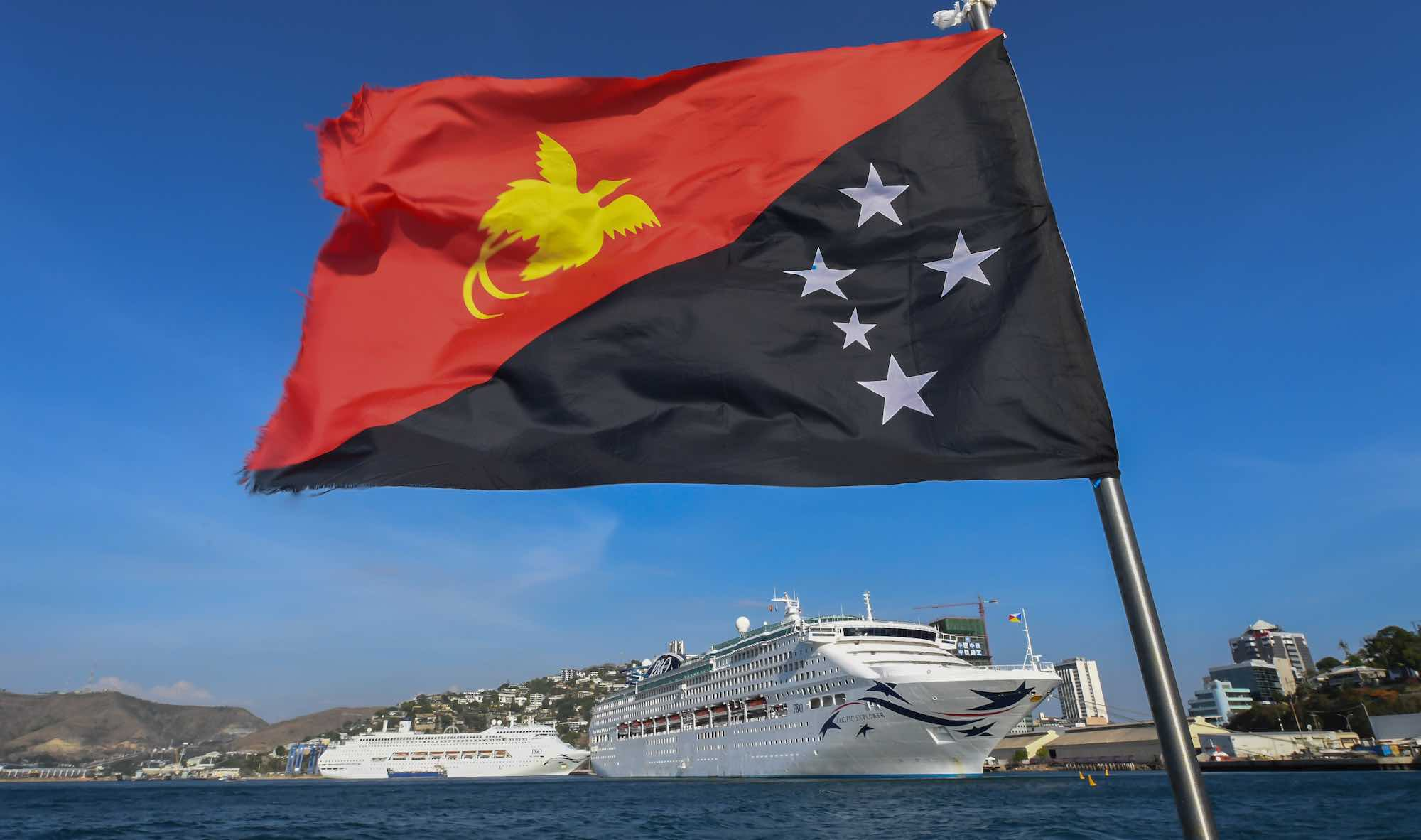 Cruise ships for accommodation during the APEC summit in Port Moresby (Photo: James D. Morgan/Getty Images)