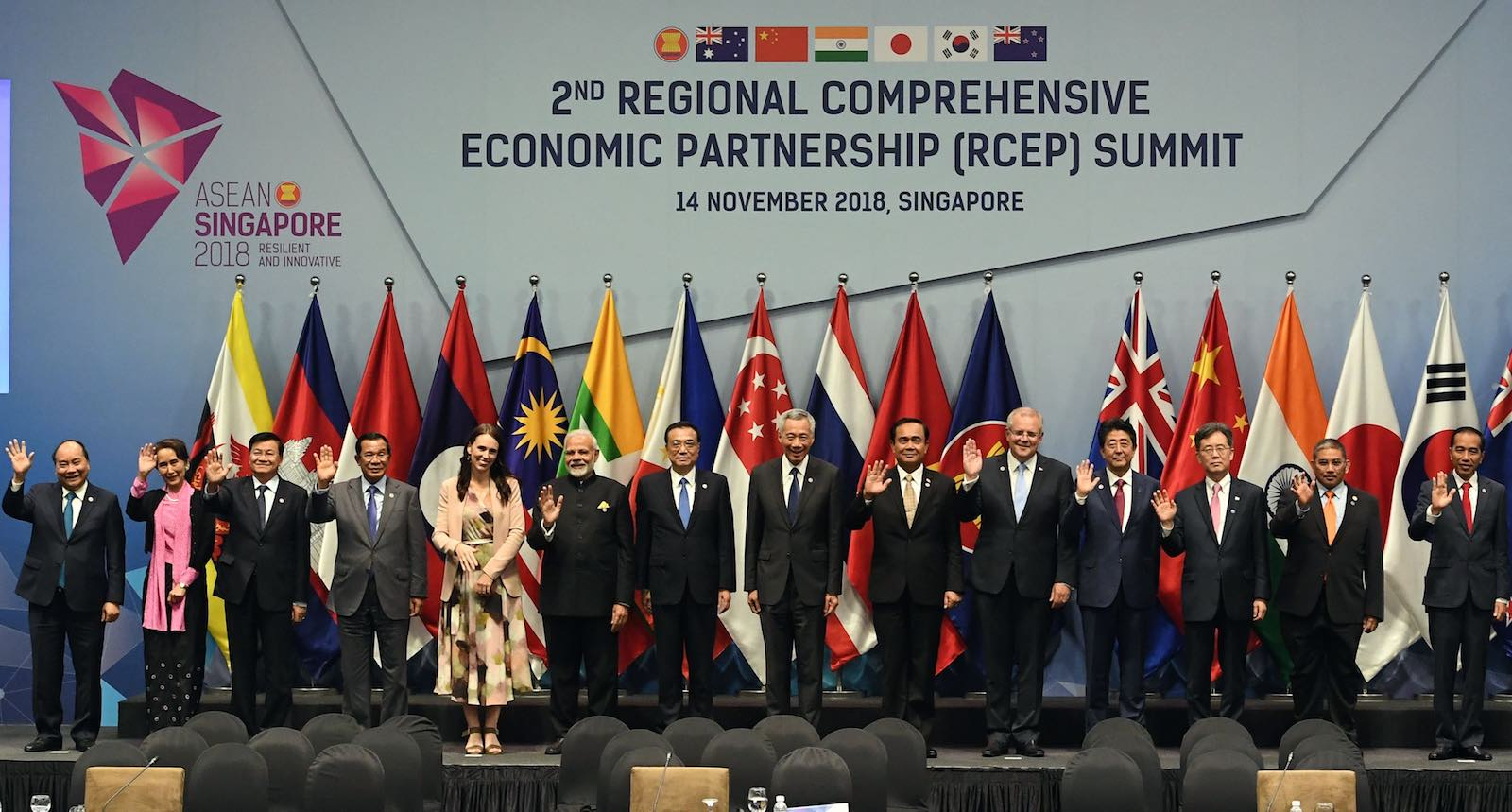 Talks in 2018 on the Regional Comprehensive Economics Partnership (Photo: Roslan Rahman/AFP/Getty Images)