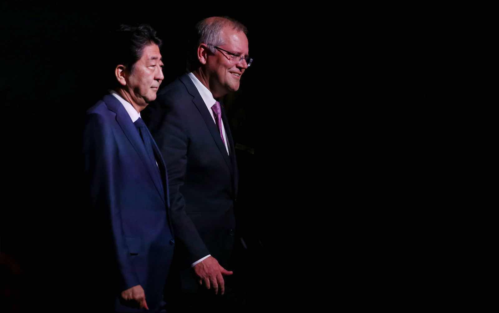 "Scott Morrison credits Abe Shinzo as a ""mentor"" (David Moir/AFP via Getty Images)"