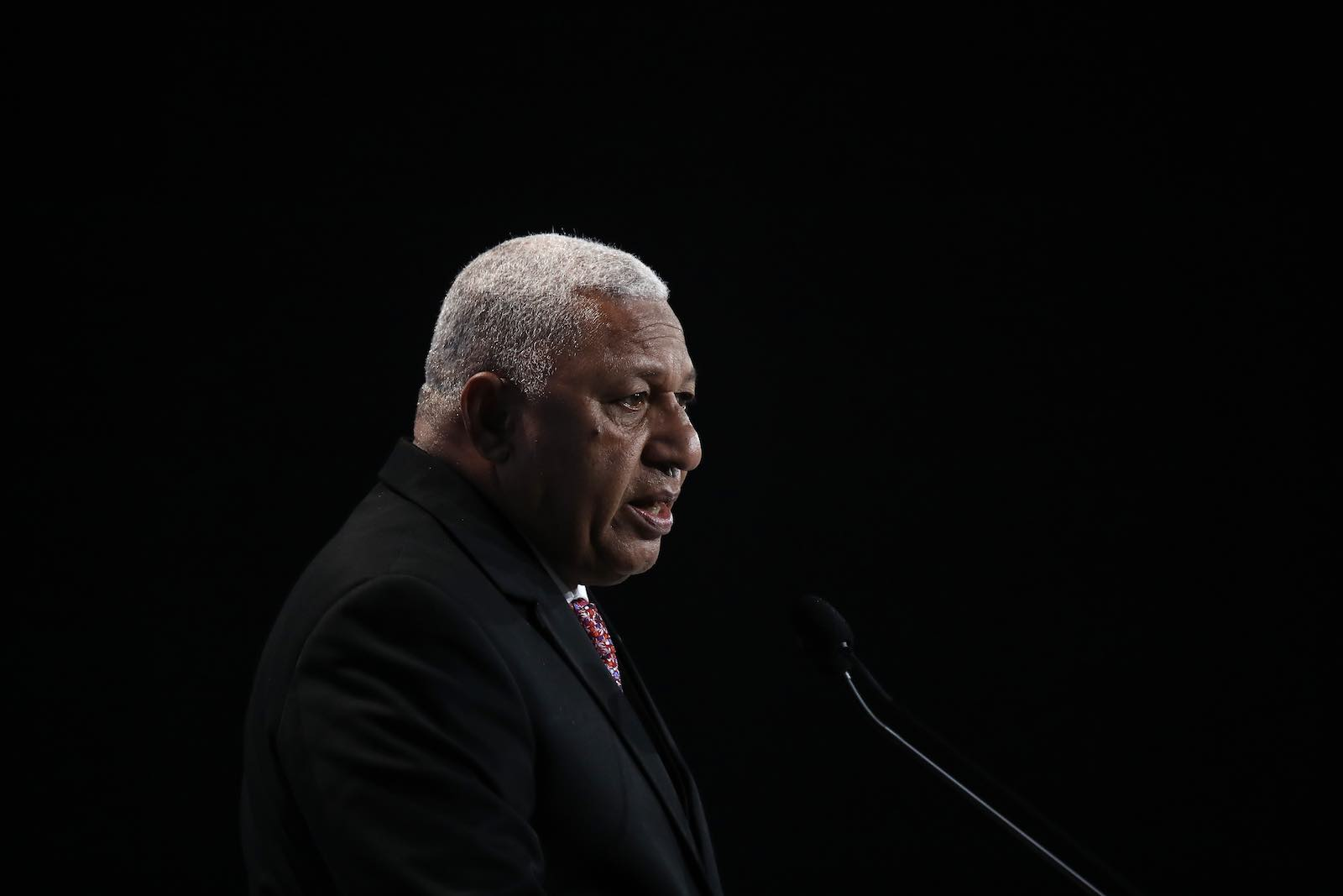 Frank Bainimarama has returned after boycotting the Pacific Islands Forum for the past 12 years (Photo: Sean Gallup/Getty)