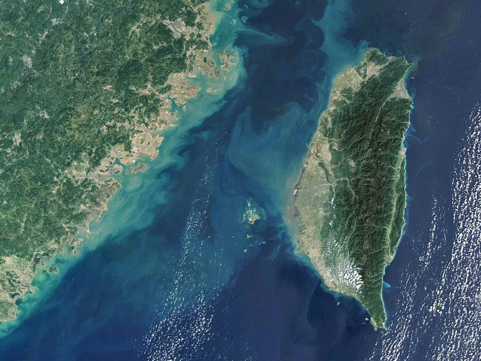 Satellite view of the Taiwan Strait (Gallo Images/Getty Images)