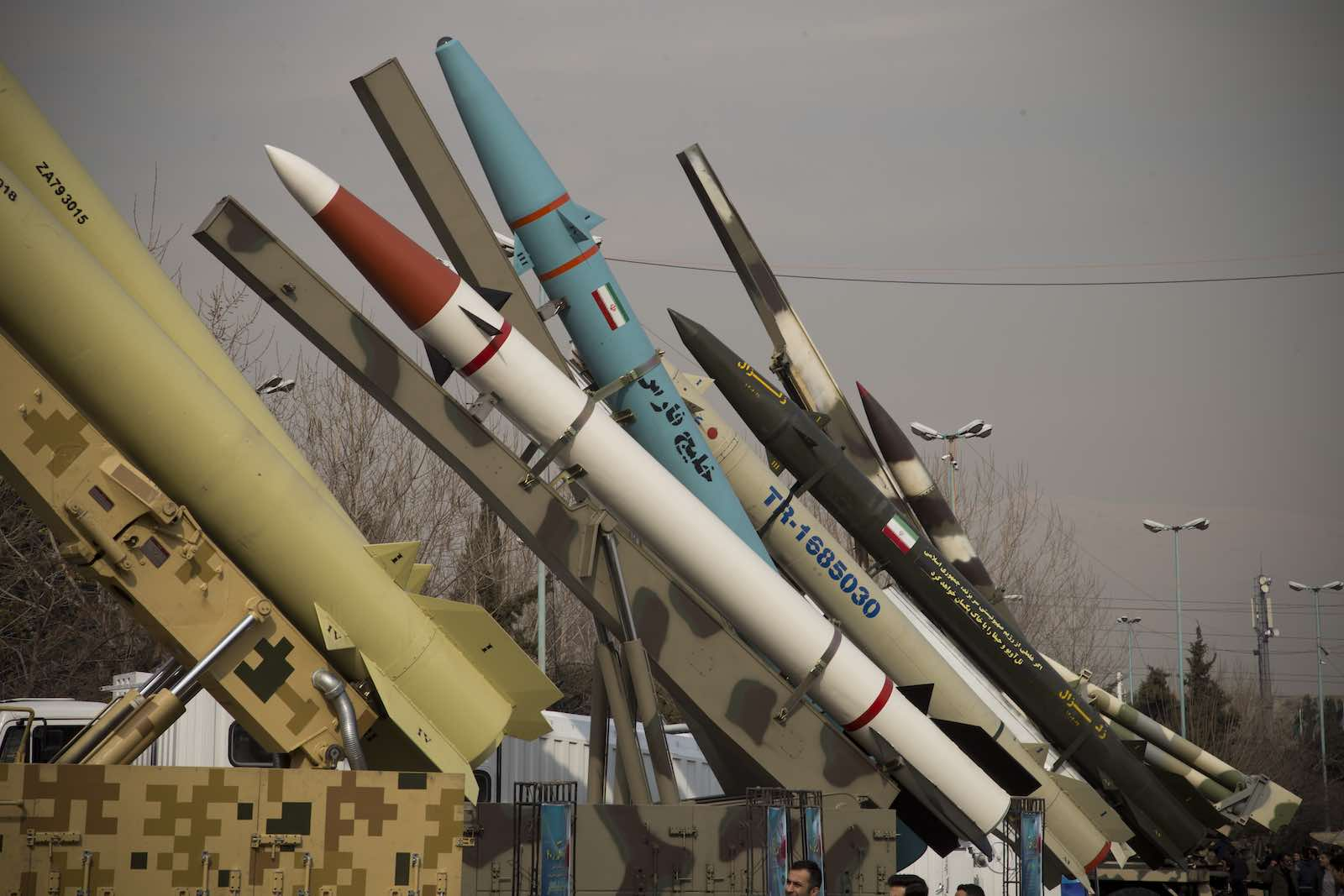 A weaponry and military equipment exhibition on the occasion of the 40th anniversary of the Iranian revolution, Tehran, 7 February  2019 (Photo: Rouzbeh Fouladi/NurPhoto via Getty)