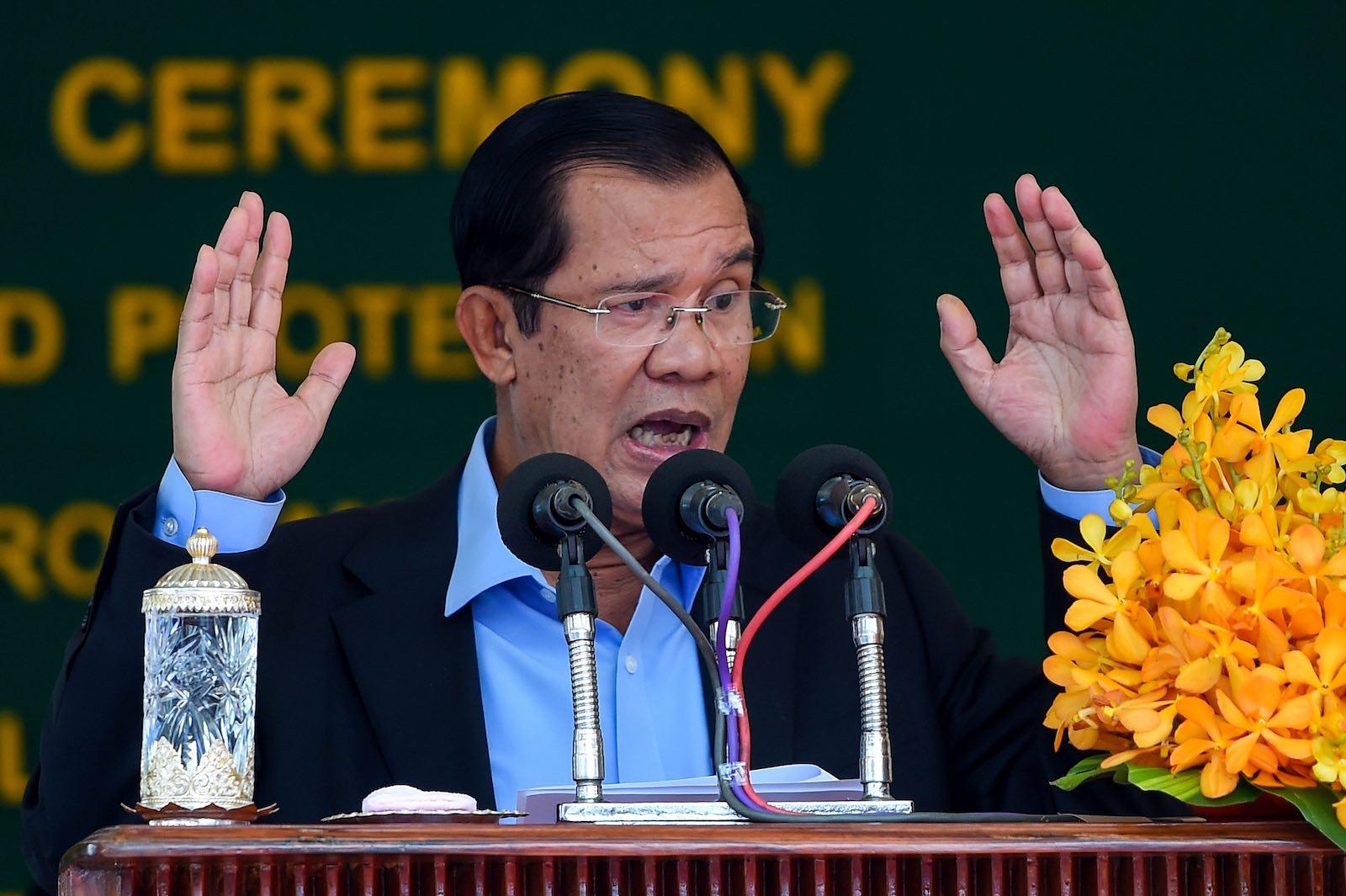 Cambodian Prime Minister Hun Sen (Photo: Tang Chhin Sothy via Getty)