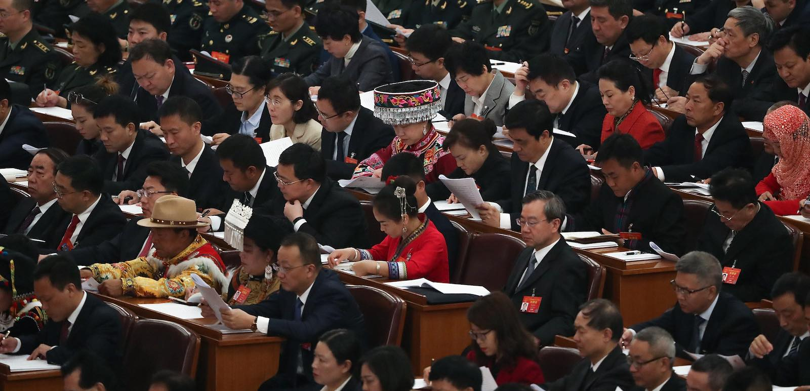 The opening of the Two Sessions at The Great Hall of People in Beijing on 5 March 2019 (Photo: Andrea Verdelli/Getty)