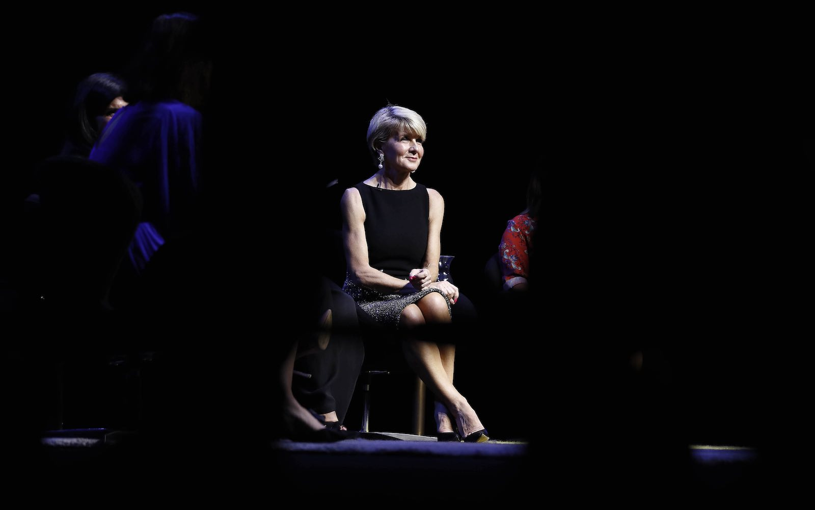 "Julie Bishop during the ""Leading While Female"" panel event in Sydney in March (Photo: Ryan Pierse/Getty)"