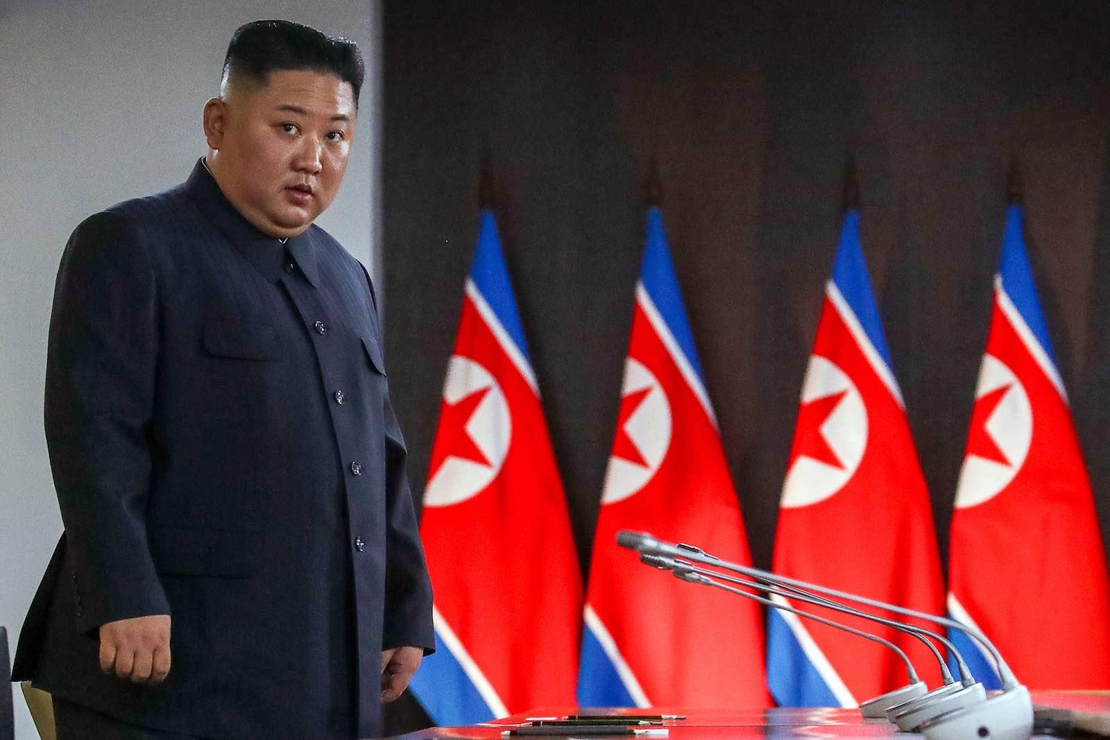 Vanishing act: Kim Jong-un (Valery Sharifulin/TASS via Getty Images)