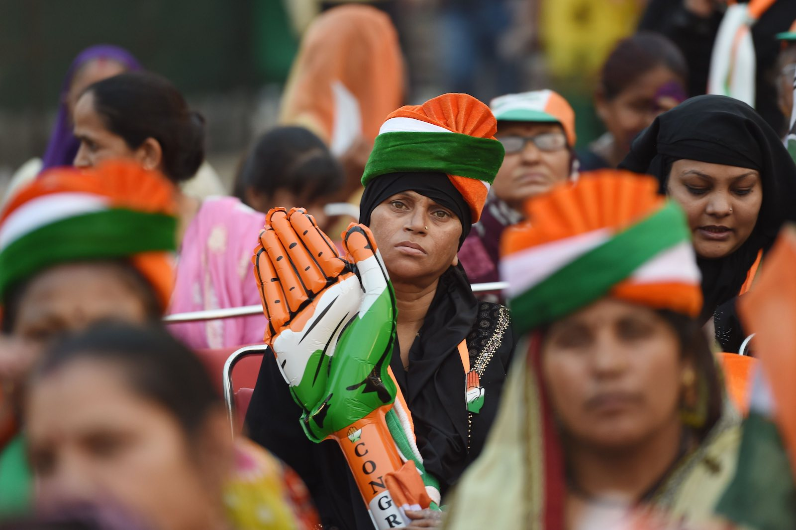 Congress, once the party of power in India, has suffered unprecedented consecutive defeats (Photo: Money Sharma via Getty)