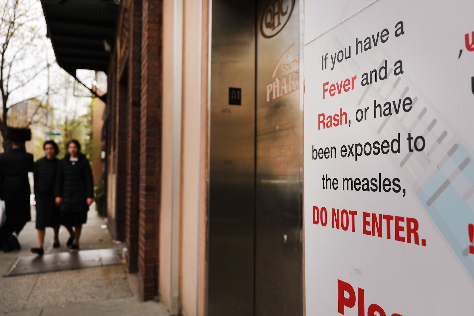 Watch for warning signs: responding to a measles outbreak in New York City (Photo: Spencer Platt/Getty)