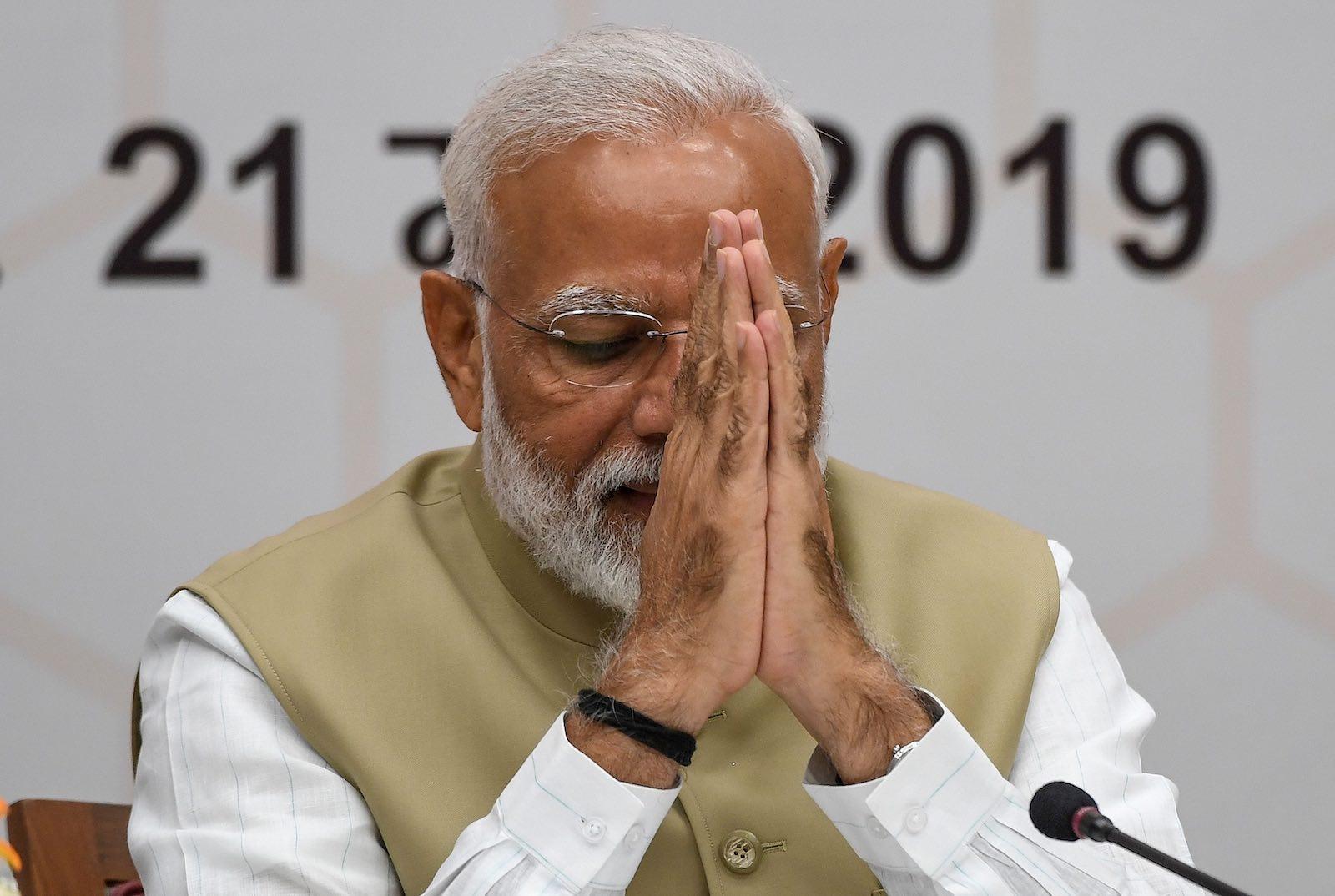 Narendra Modi is seeking a second term (Photo: Prakash Singh via Getty)
