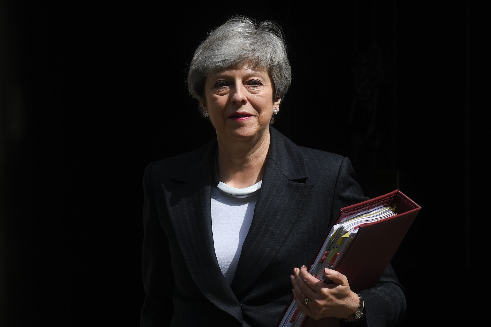 Theresa May's strategy was always to deny there was any alternative to her deal (Photo: Daniel Leal-Olivas via Getty)