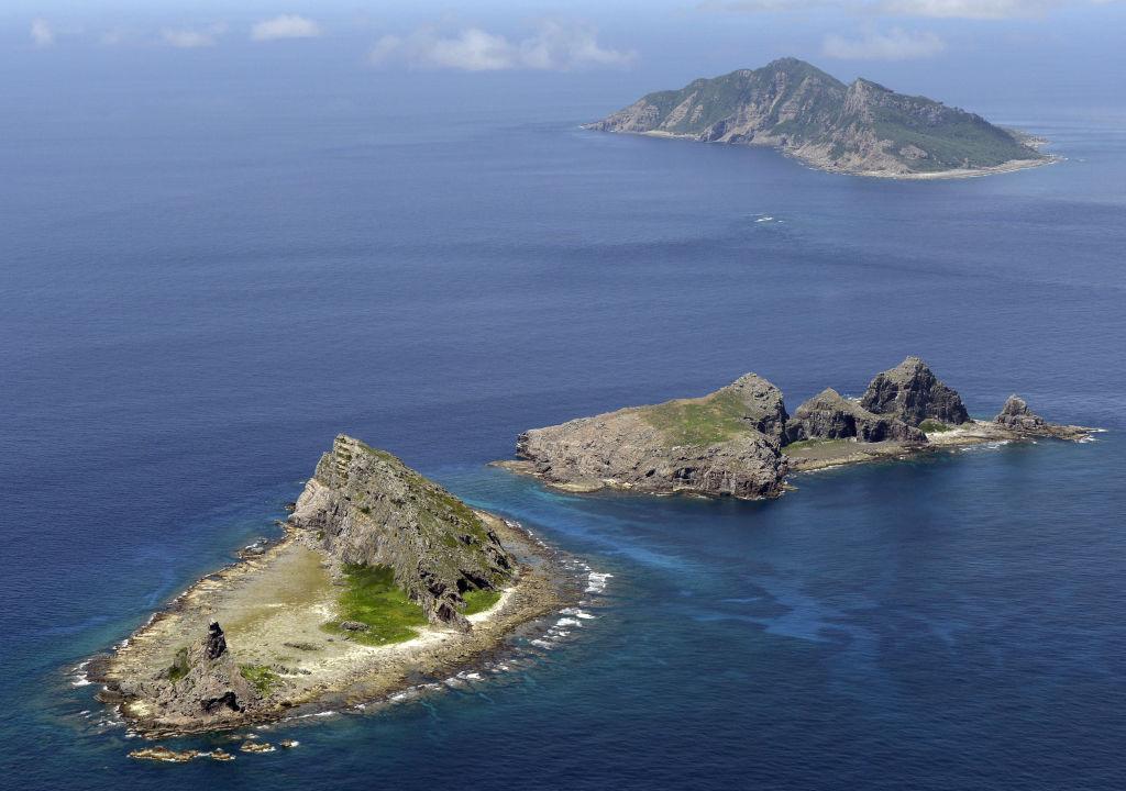 The disputed Senkaku/Diaoyu islands in the East China Sea