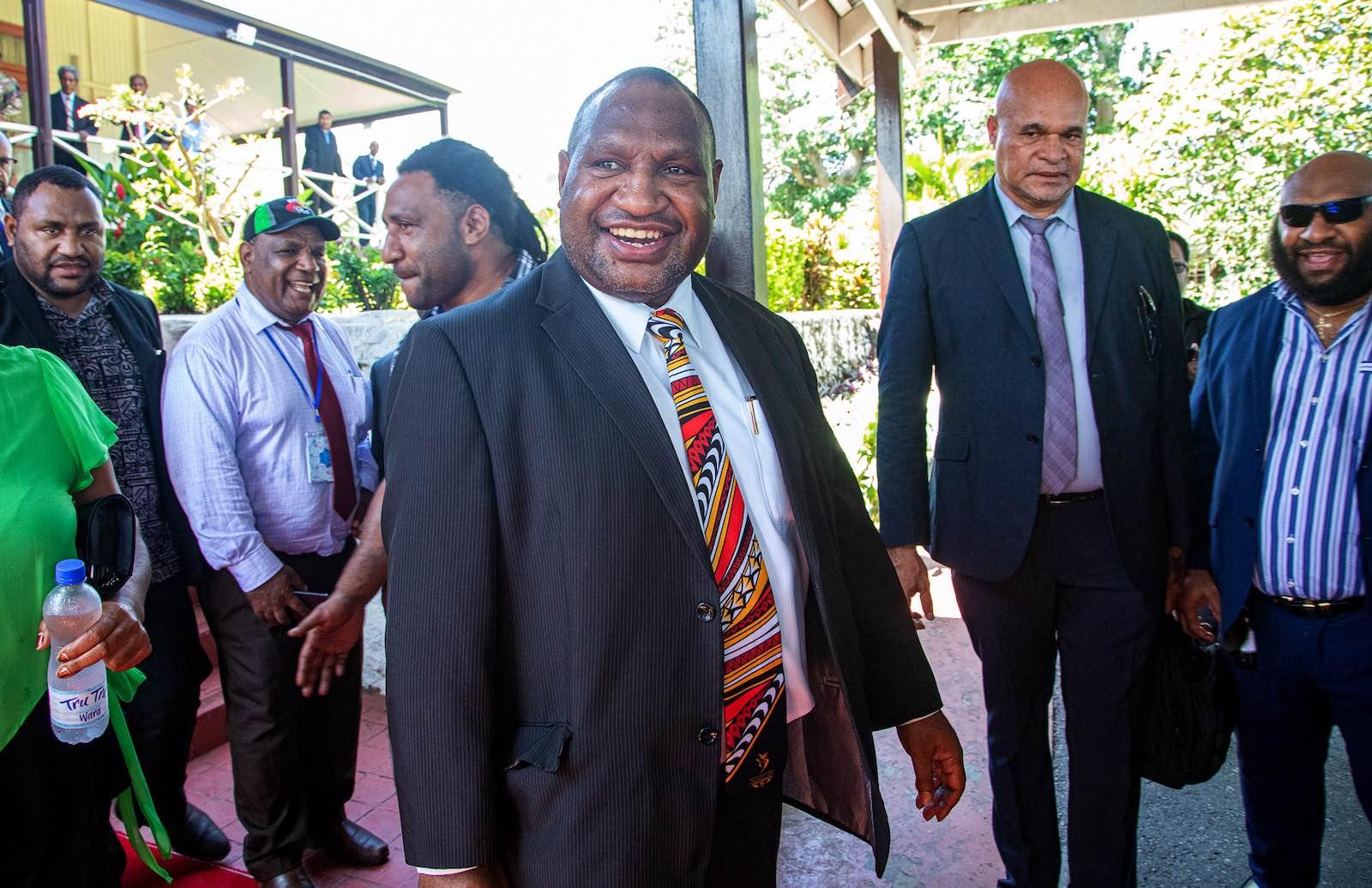 Swearing in: James Marape wins the top job in PNG (Photo: Vanessa Kerton via Getty)