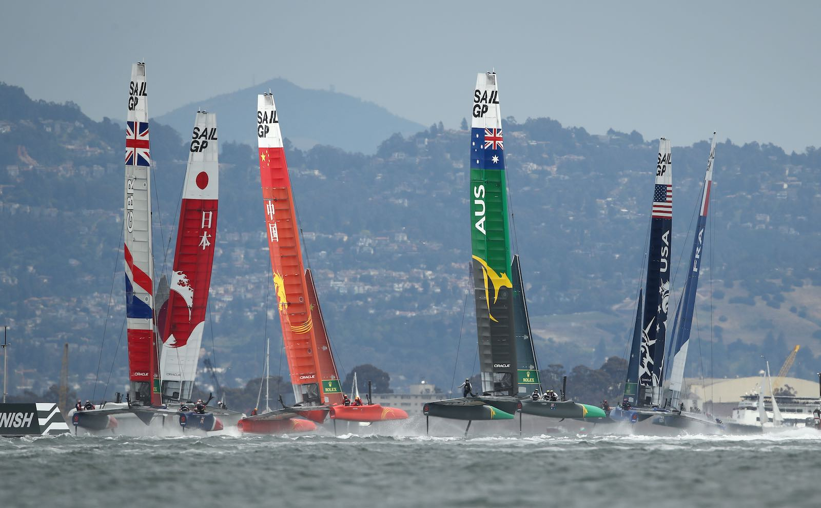 Navigating great powers: SailGP Championship on the San Francisco Bay this month (Photo: Ezra Shaw/Getty)