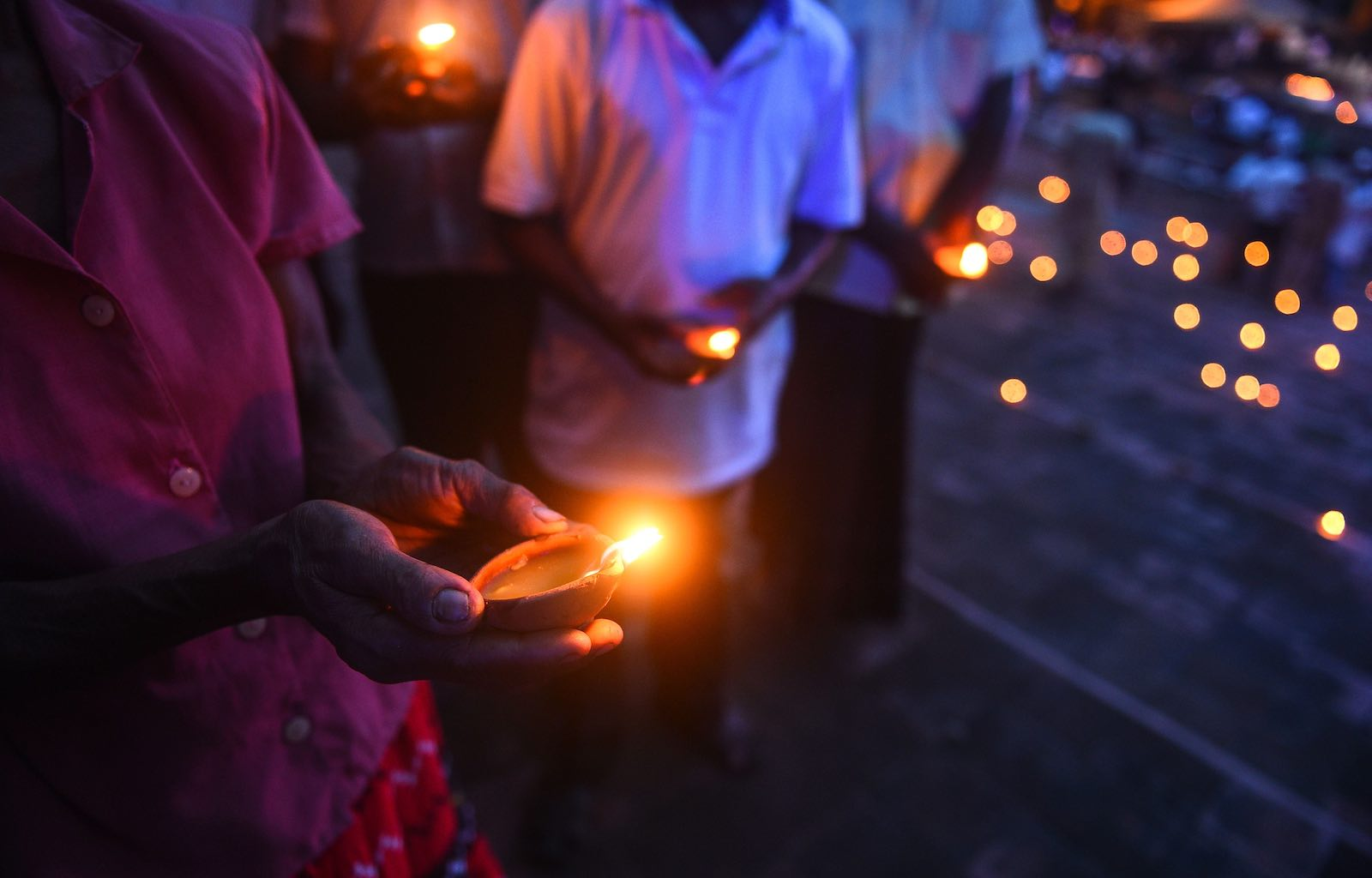 A remembrance ceremony in Colombo in June, two months after the Easter Sunday bombings that killed 258 people (Photo: Ishara S. Kodikara via Getty)