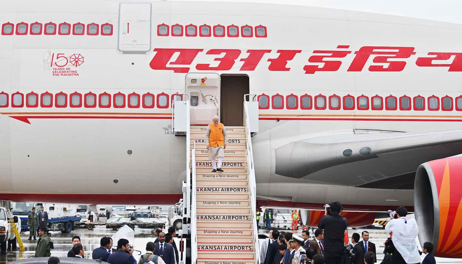 Indian PM Narendra Modi arrives for the G20 Summit in Osaka, Japan, 27 June 2019 (Photo: Charly Triballeau via Getty)