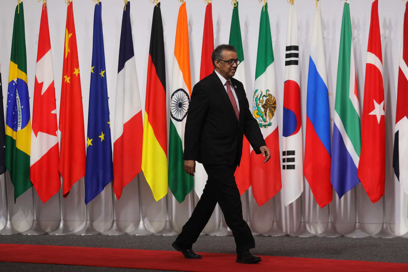 World Health Organization Director-General Tedros Adhanom at the G20 Summit in Osaka, Japan, June 2019 (Ludovic Marin/AFP via Getty Images)