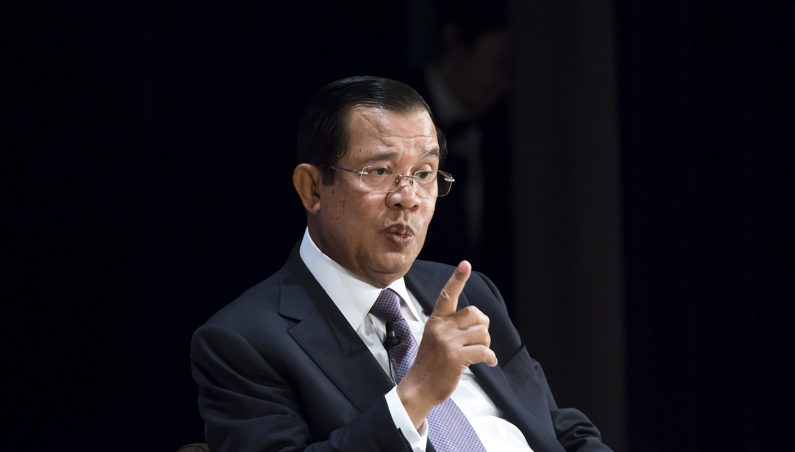 Cambodian Prime Minister Hun Sen at the Future of Asia Conference, Tokyo, 30 May 2019 (Photo: Tomohiro Ohsumi/Getty Images)