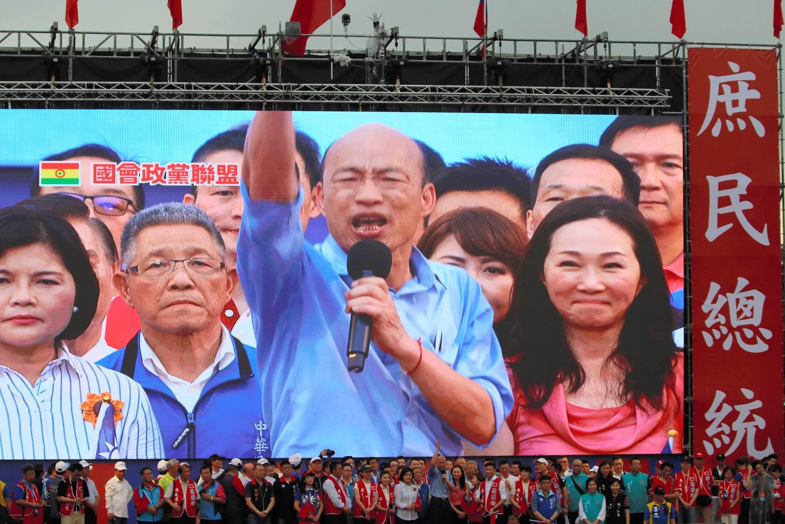 Kaohsiung Mayor Han Kuo-yu announces his run for Taiwan Presidential election (Photo: Asahi Shimbun via Getty)