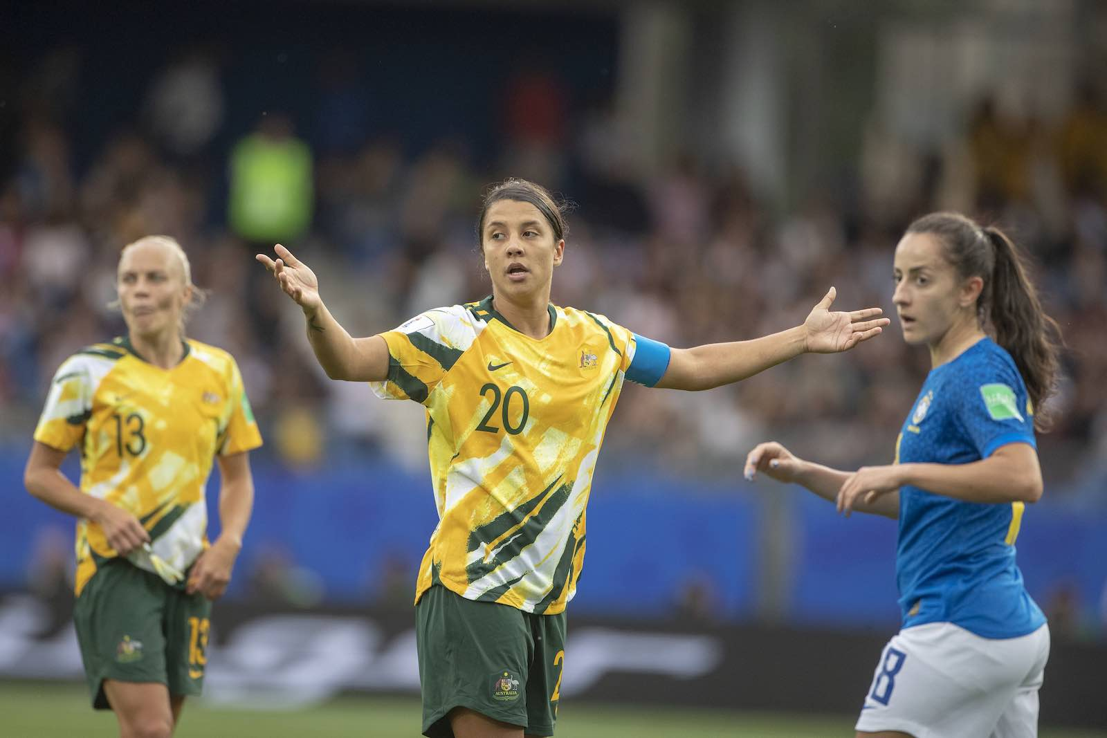 Australia's Sam Kerr (Photo: Tim Clayton via Getty)