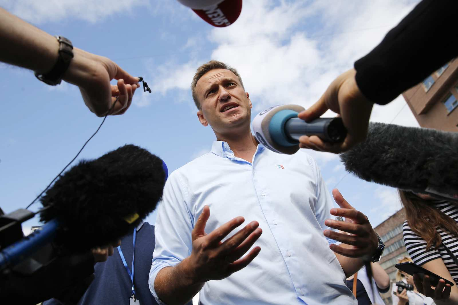 Russian opposition leader Alexei Navalny in July 2019 (Maxim Zmeyev/AFP via Getty Images)