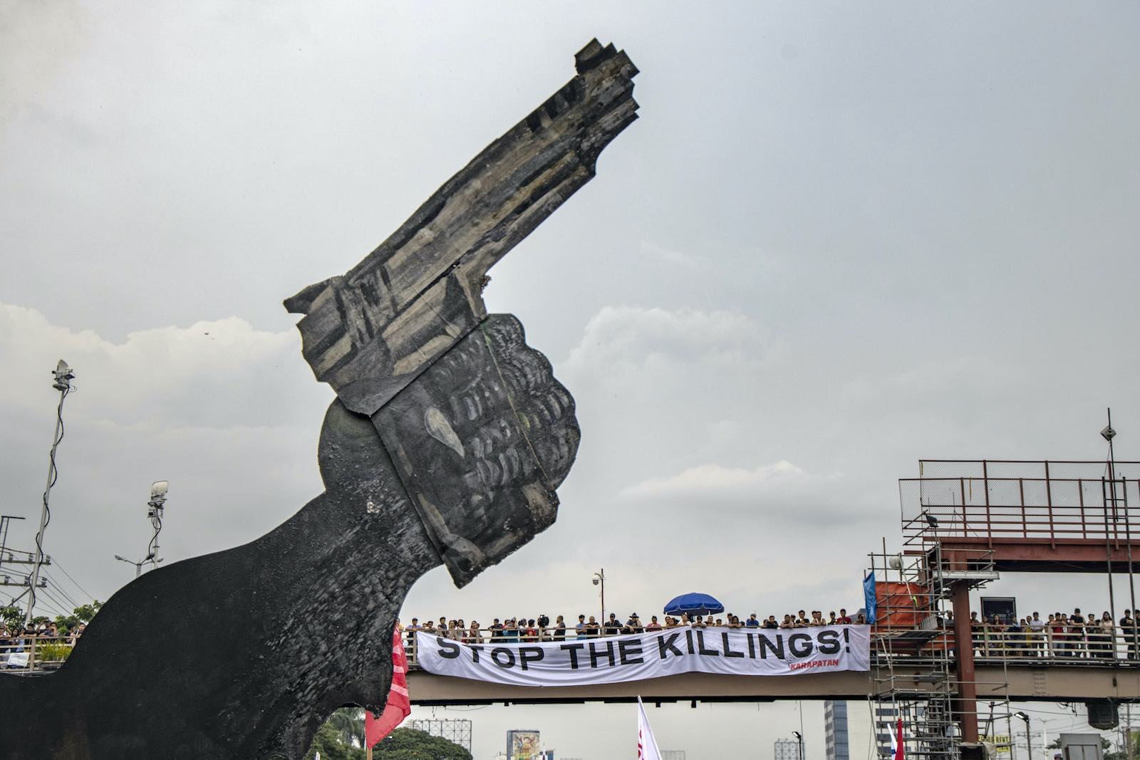 """Demonstrations in July 2019 outside the Philippine congress in Manila demanding an end to the so-called """"war on drugs"""" (Ezra Acayan/Getty Images)"""