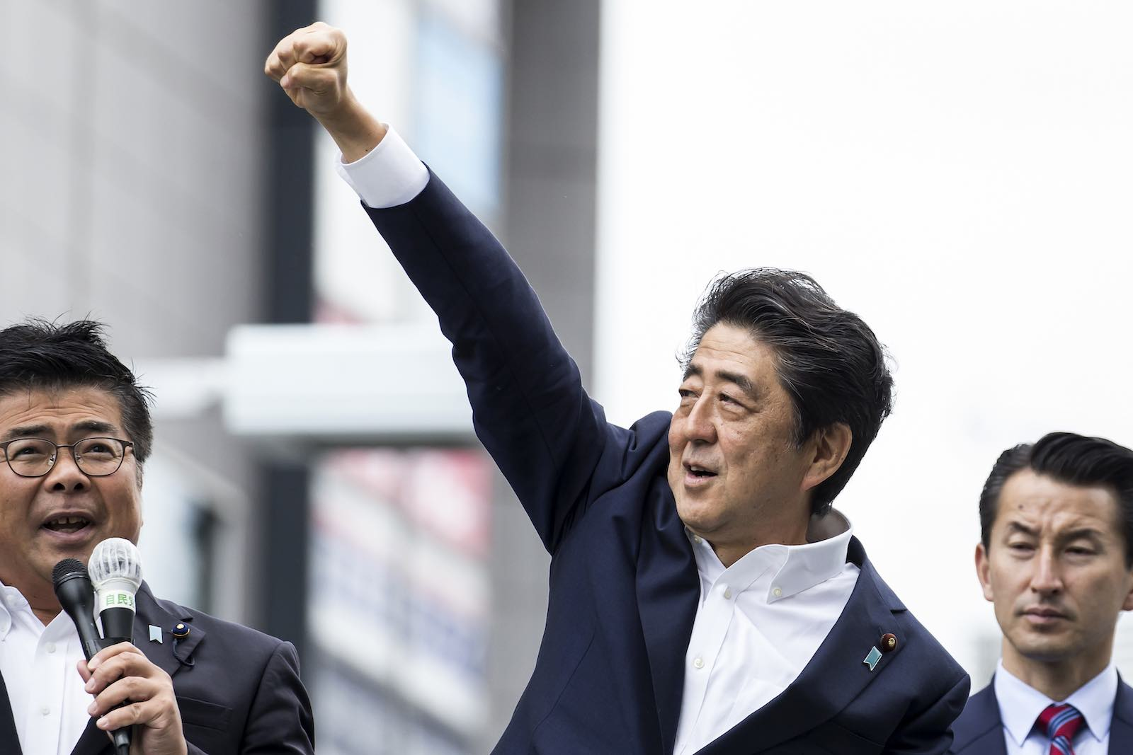 No other Japanese leader has spent as much political capital as Shinzo Abe on this politically controversial project to amend the constitution (Photo: Tomohiro Ohsumi/Getty)