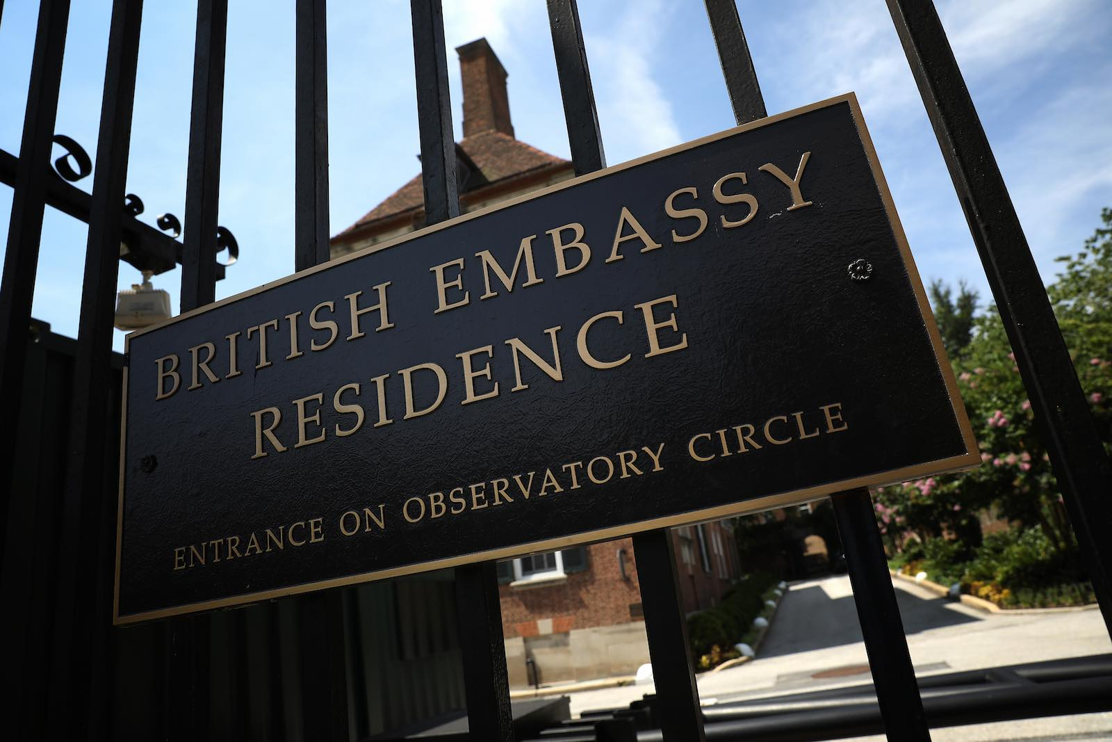 The residence for Britain's ambassador in Washington (Photo: Win McNamee/Getty)