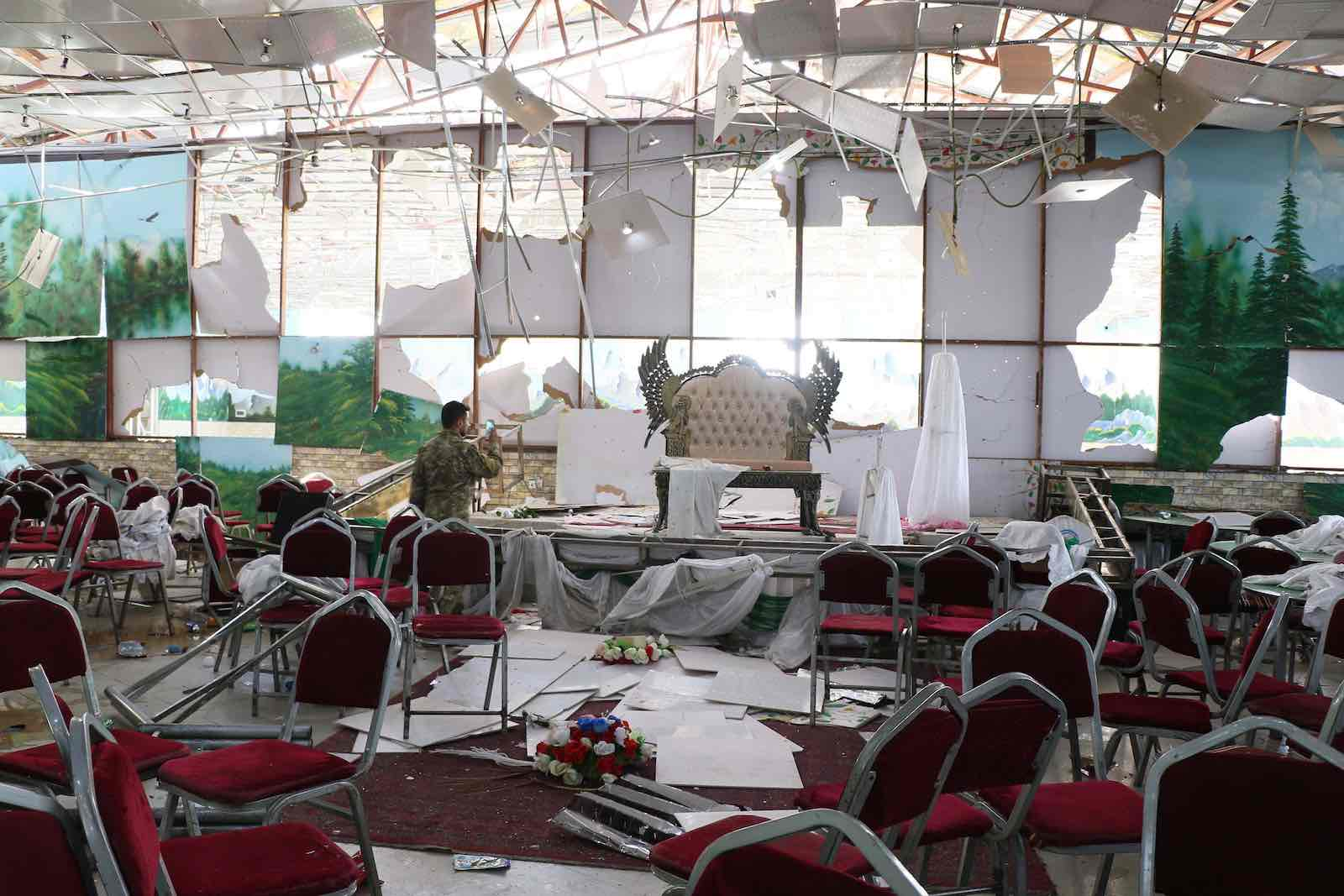 A suicide bomb blast last month at a wedding reception in Kabul killed over 60 people and injured nearly 200 (Photo: Haroon Sabawoon via Getty)