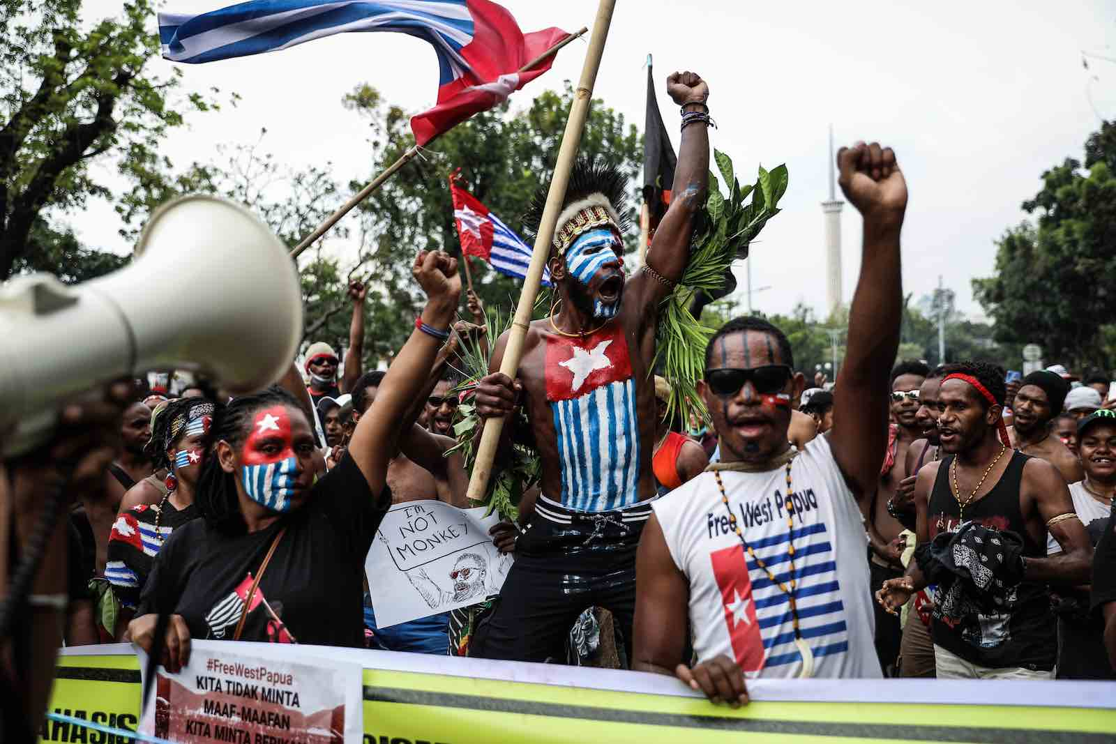 A rally in Jakarta supporting West Papua's call for independence from Indonesia, 28 August 2019 (Andrew Gal/NurPhoto via Getty Images)